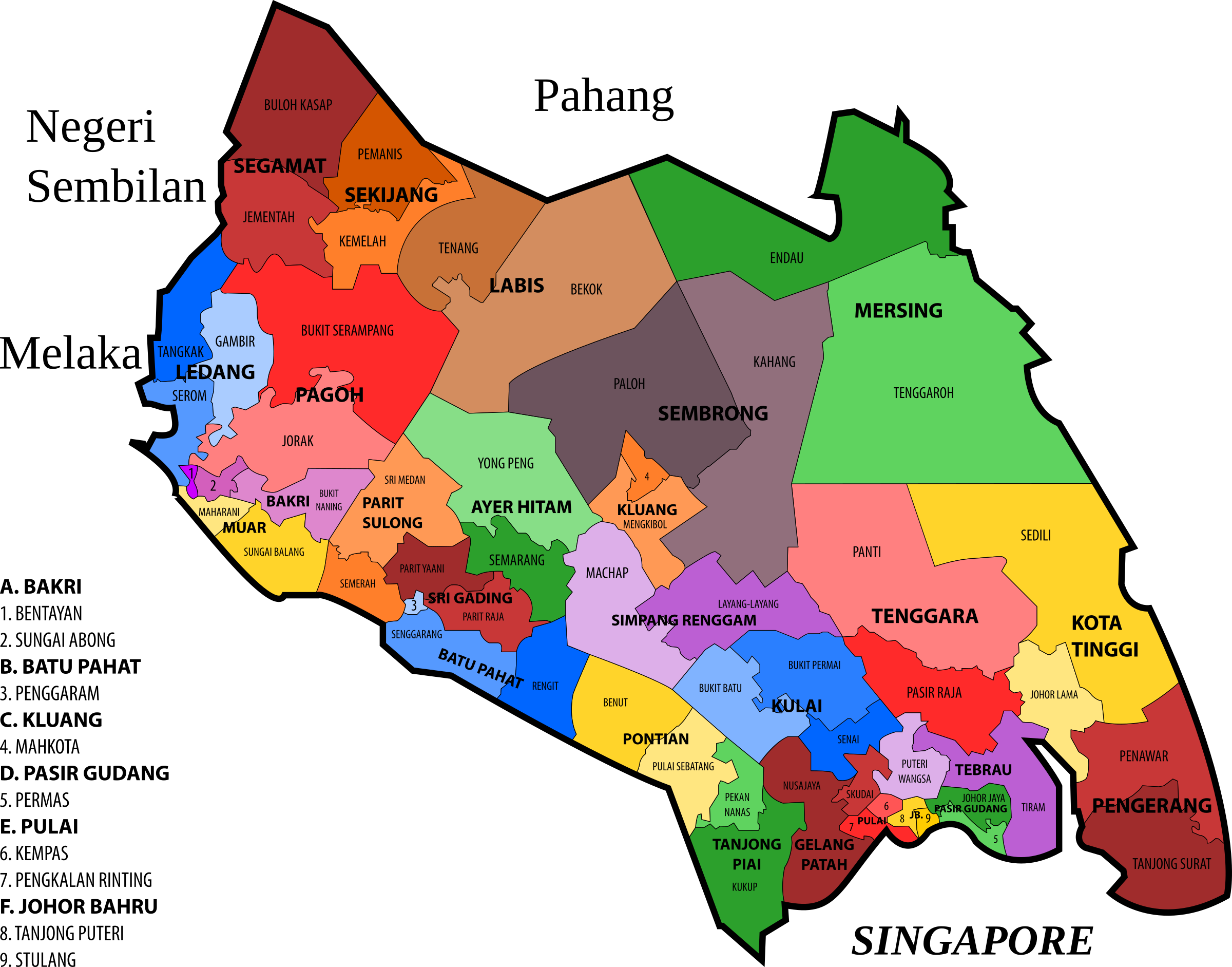 Johor State Legislative Assembly Constituencies by derkommander0916