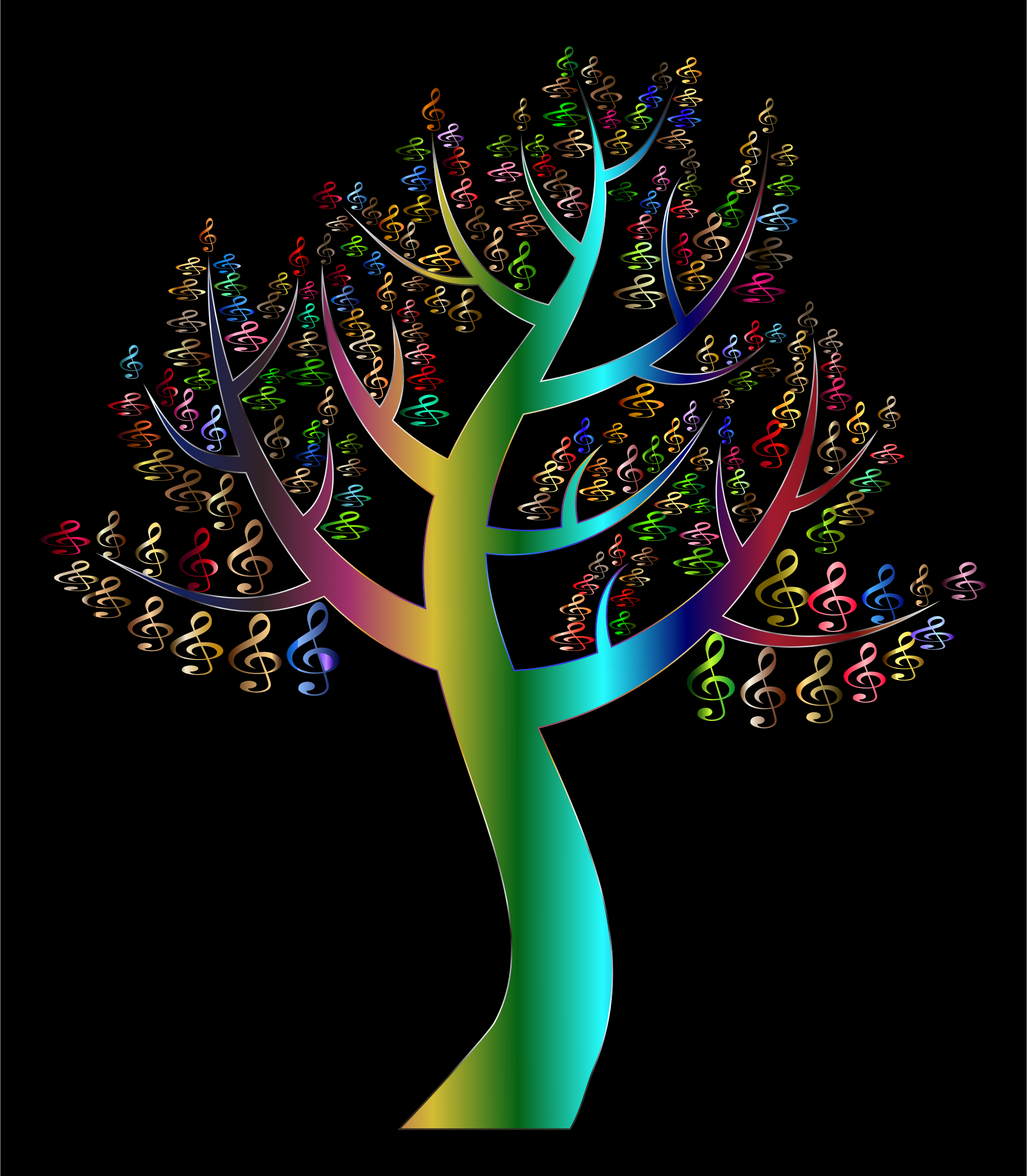 Prismatic Simple Clef Tree Variation 2 by GDJ