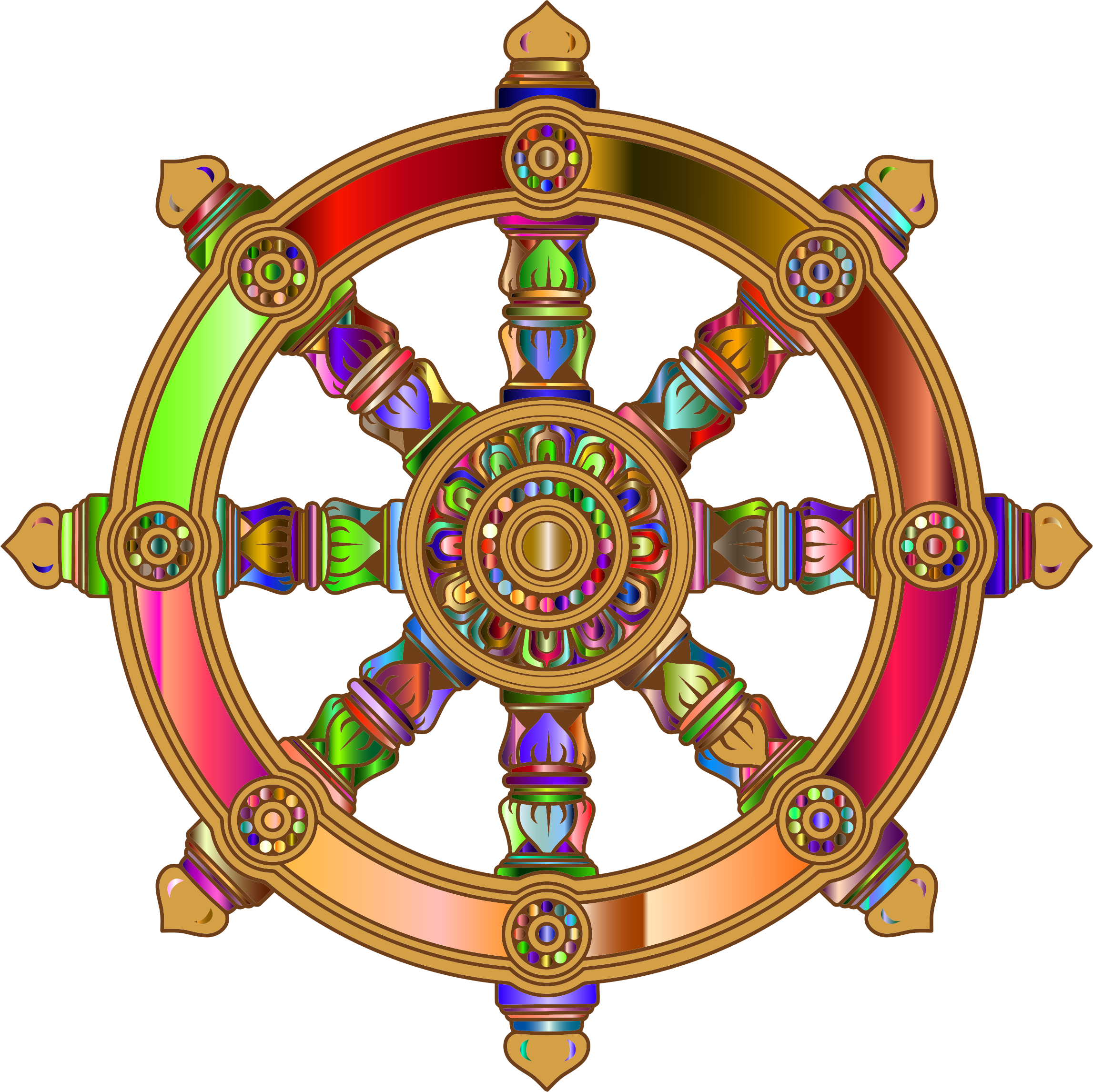 Prismatic Ornate Dharma Wheel by GDJ