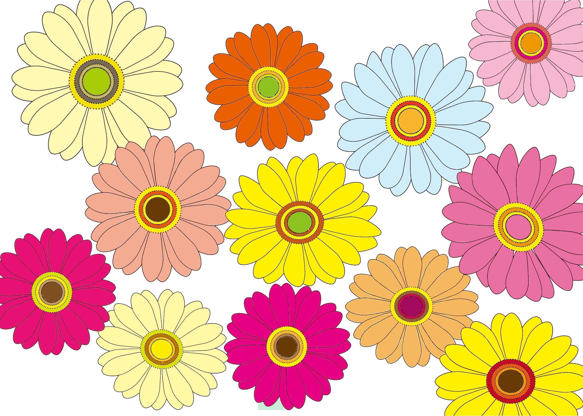 Multicolored Flowers by GDJ