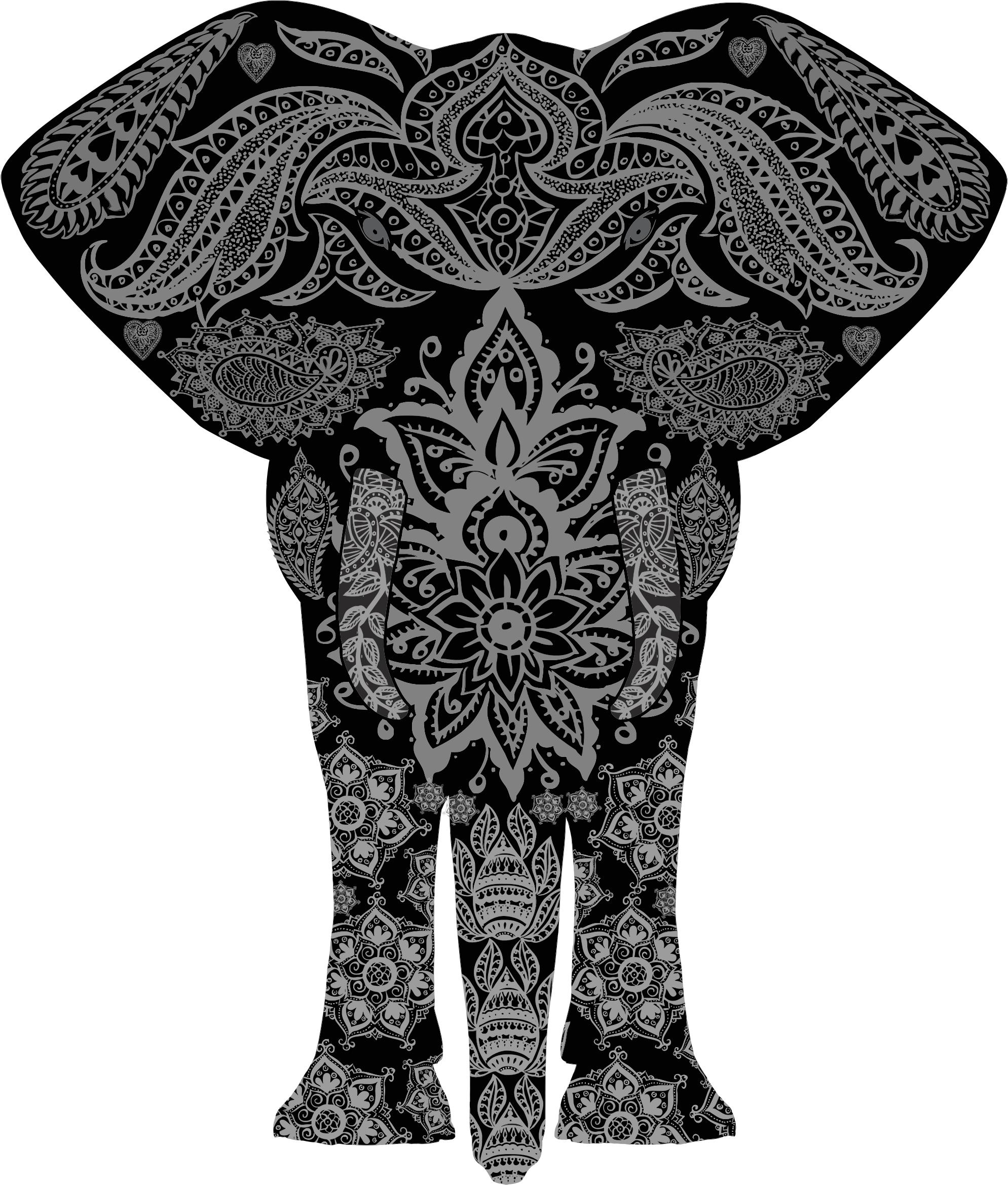 Floral Pattern Elephant by GDJ