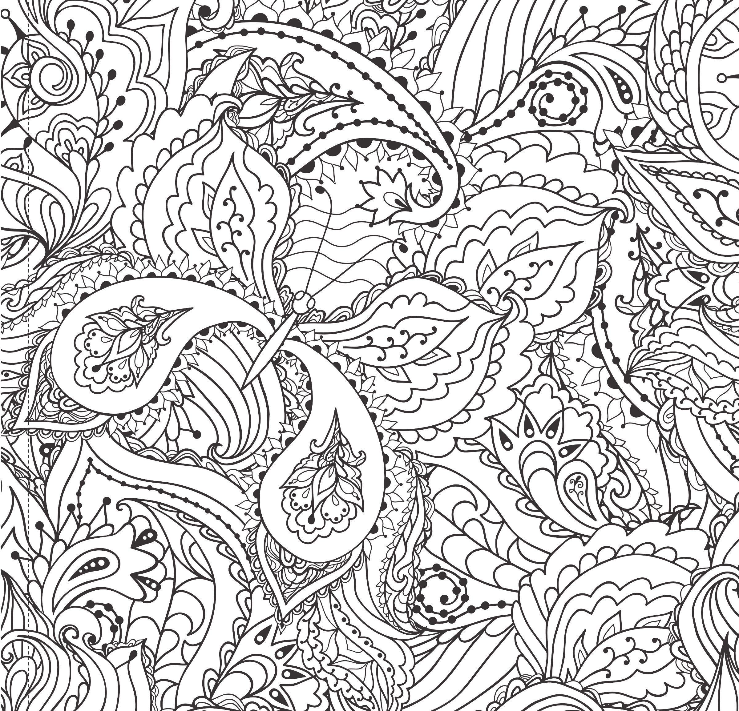 Decorative Floral Butterfly Line Art by GDJ
