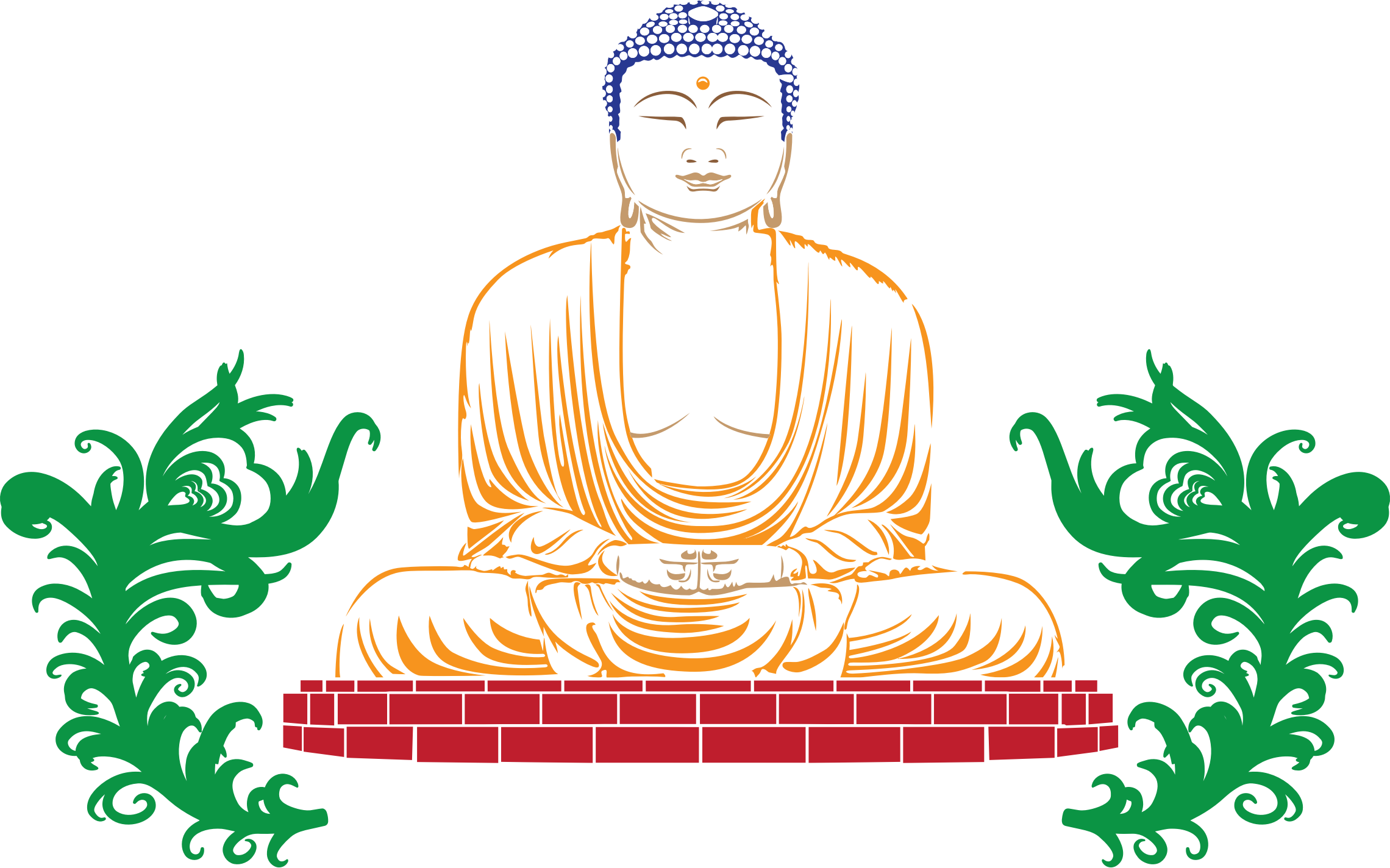 Buddha Line Art by GDJ