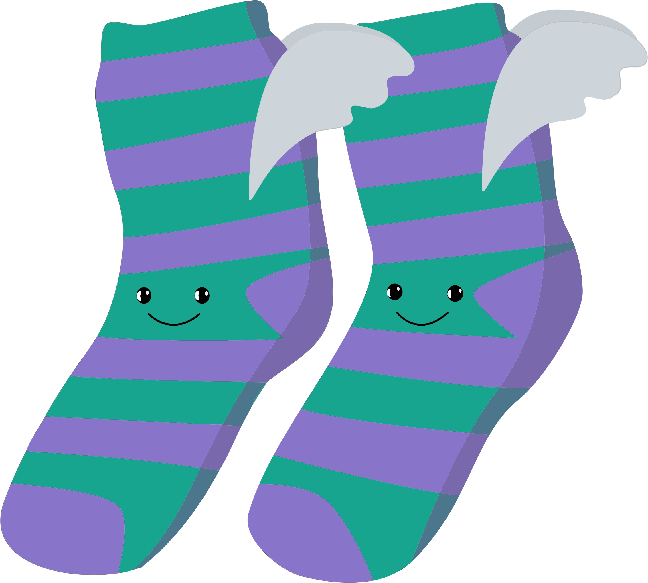 Anthropomorphic Winged Socks by GDJ