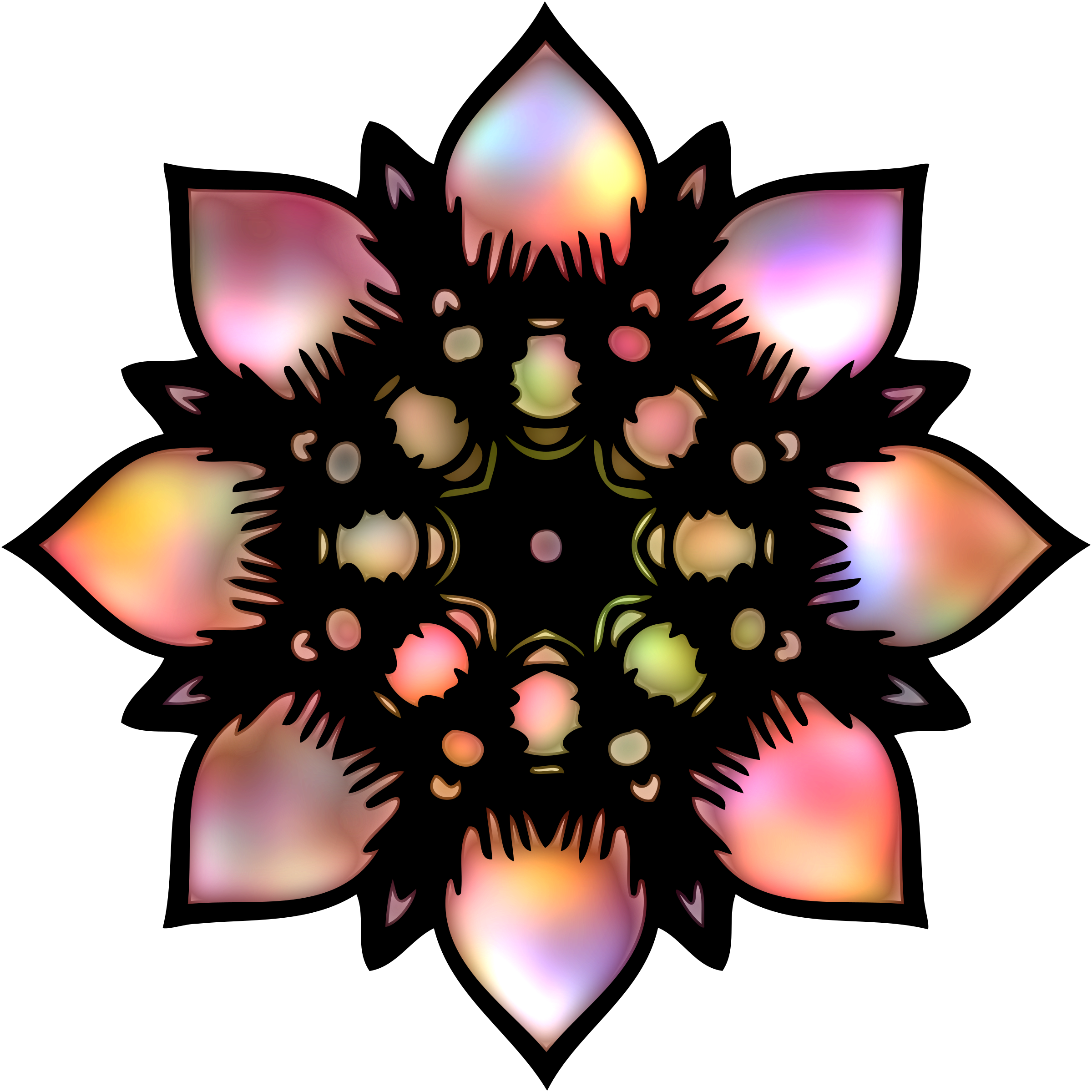 Abstract flower 4 by Firkin