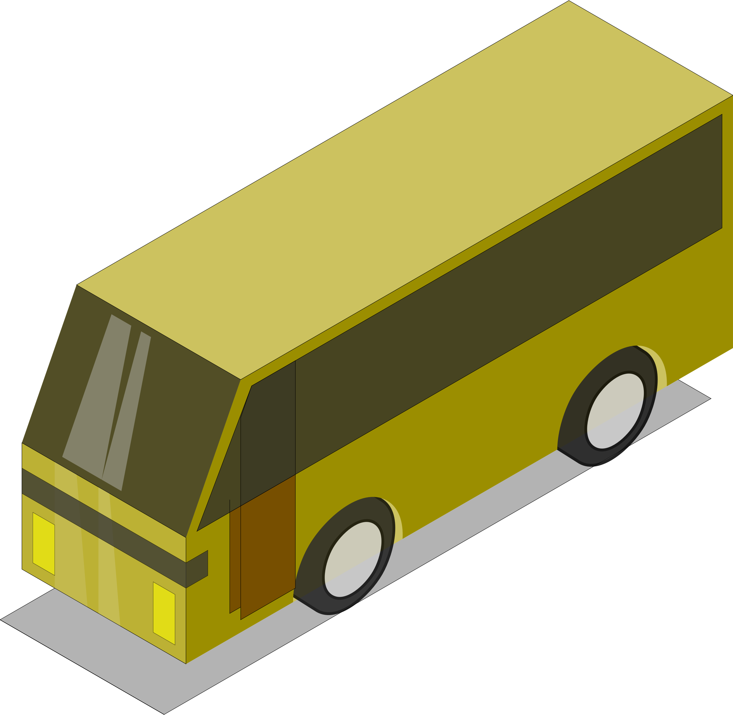 Yellow bus by Astro
