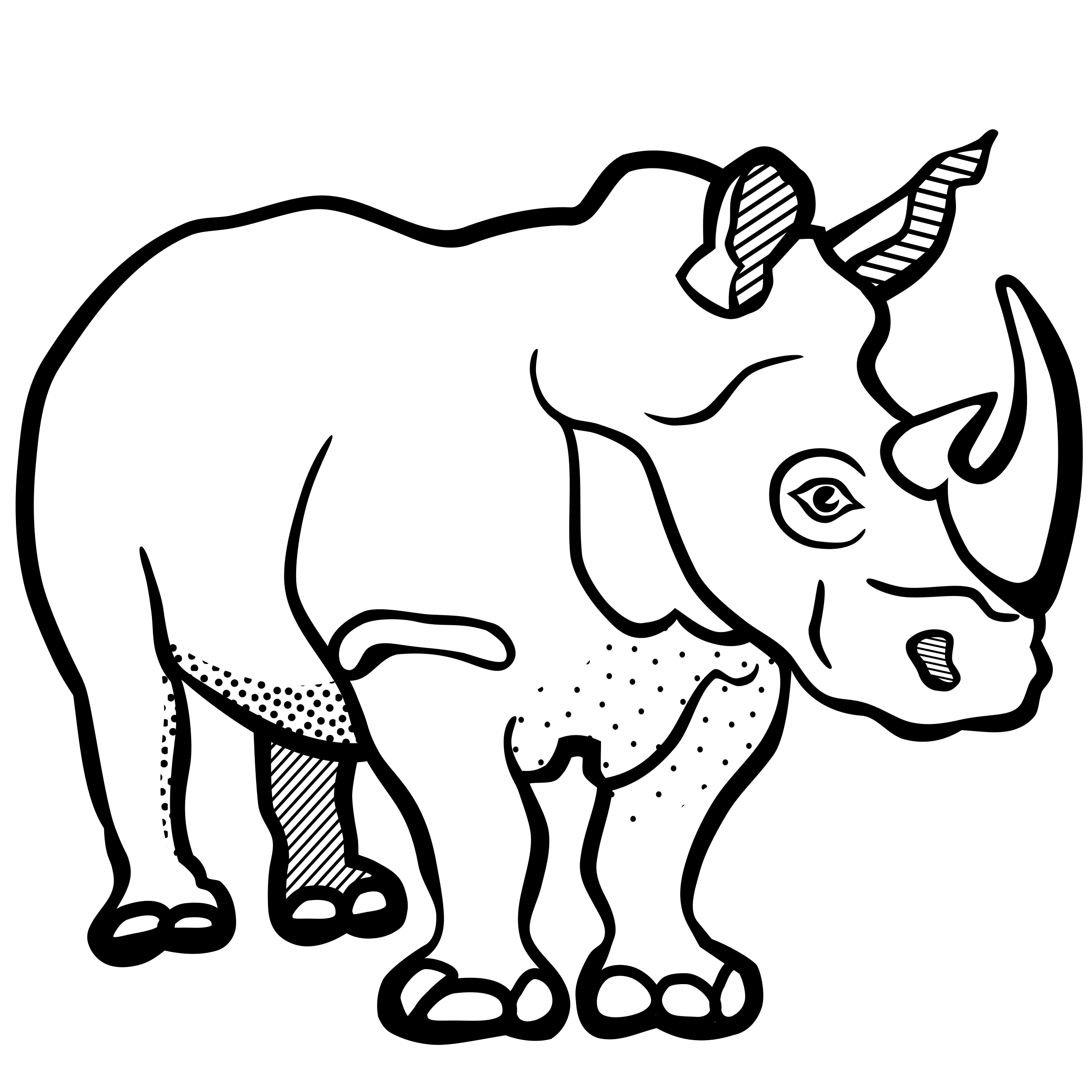 rhino - lineart by frankes