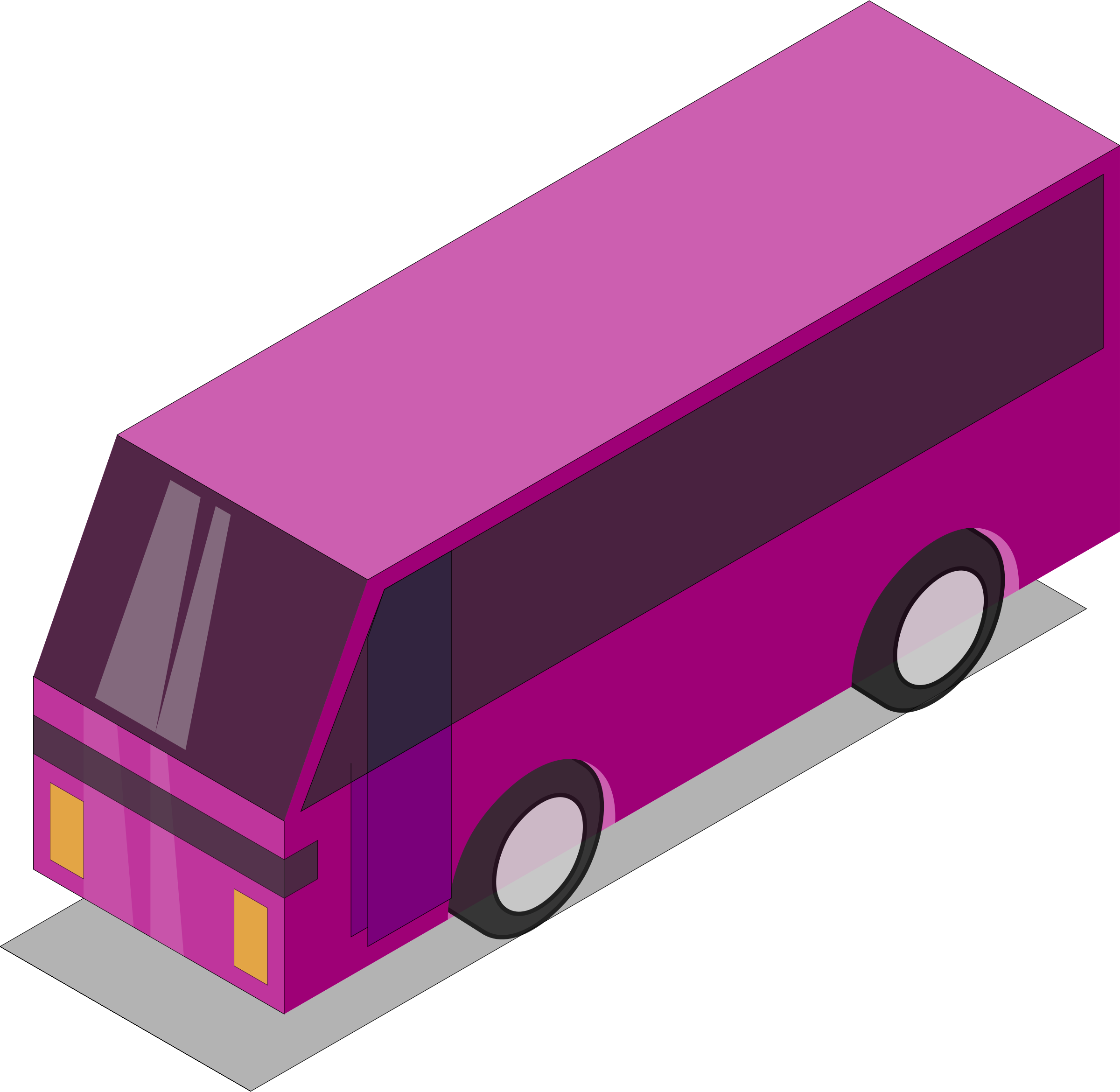Pink bus by Astro