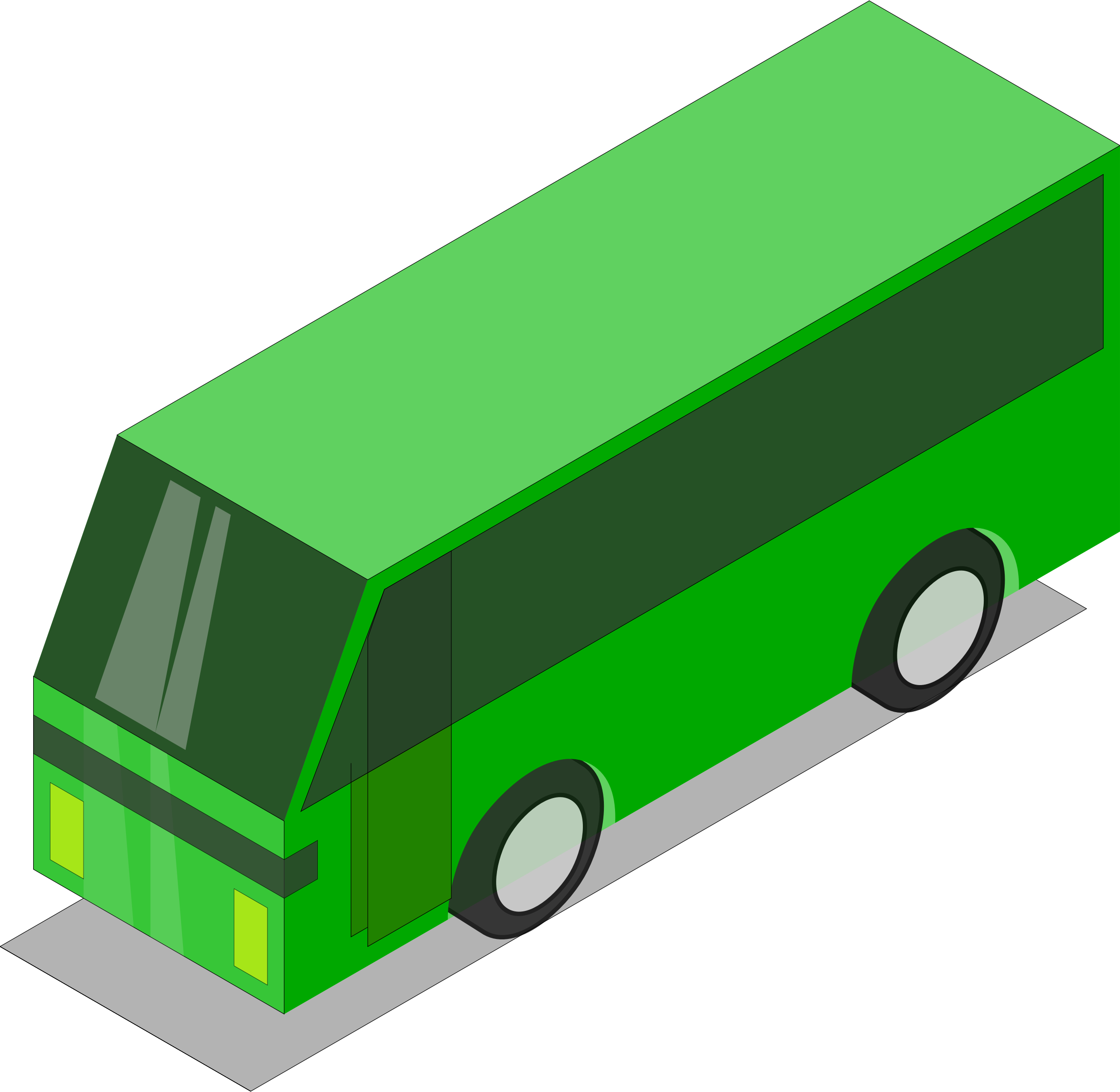 Green bus by Astro