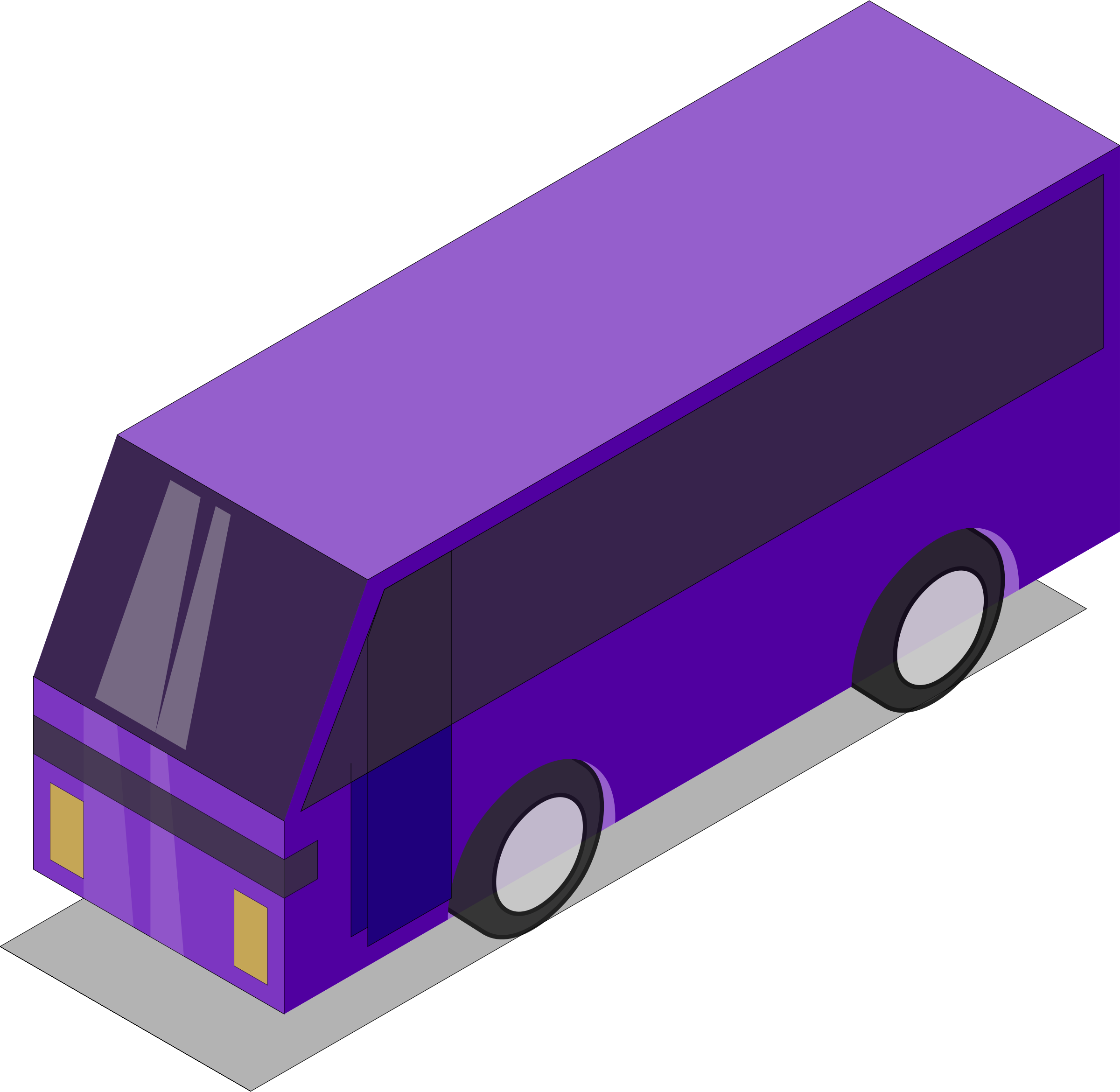 Purple bus by Astro