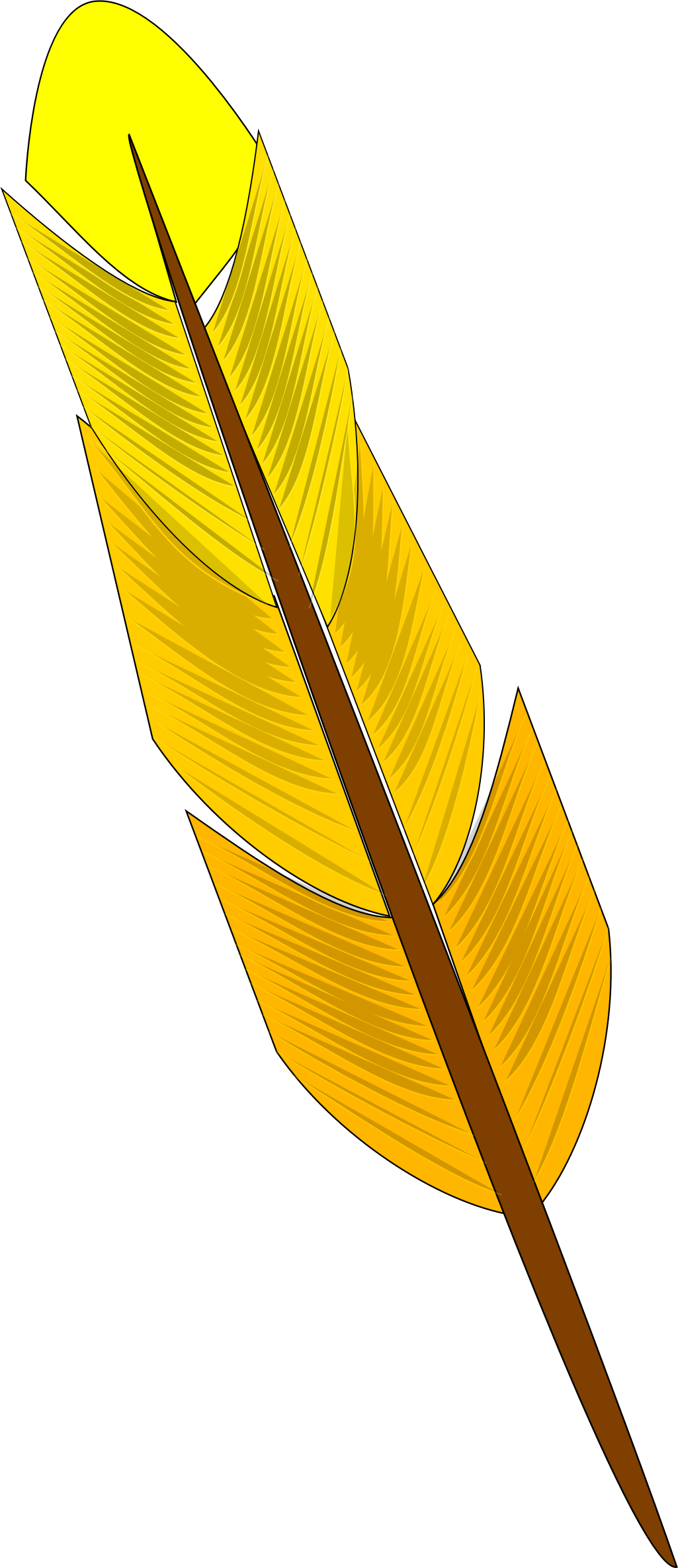 Yellow feather by Astro