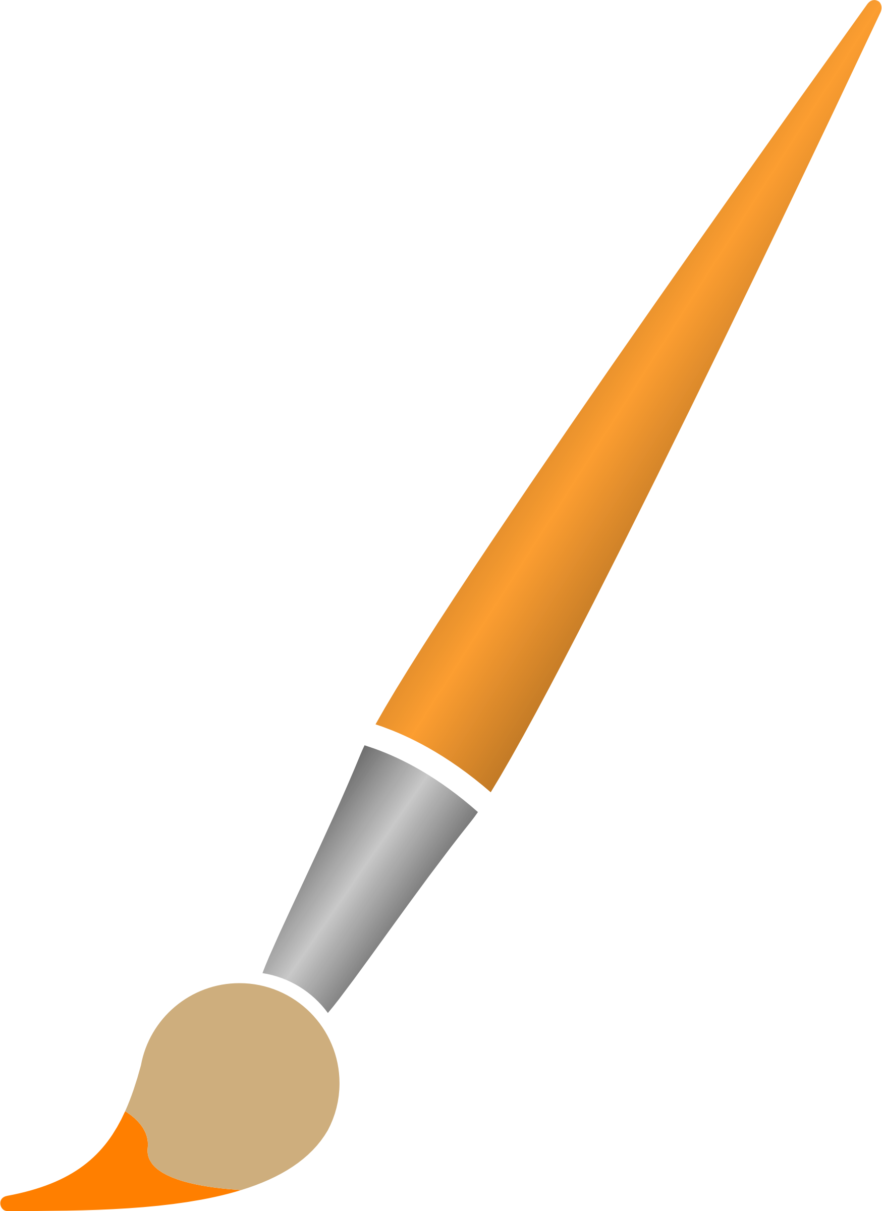 Paint Brush with Orange Dye by Astro