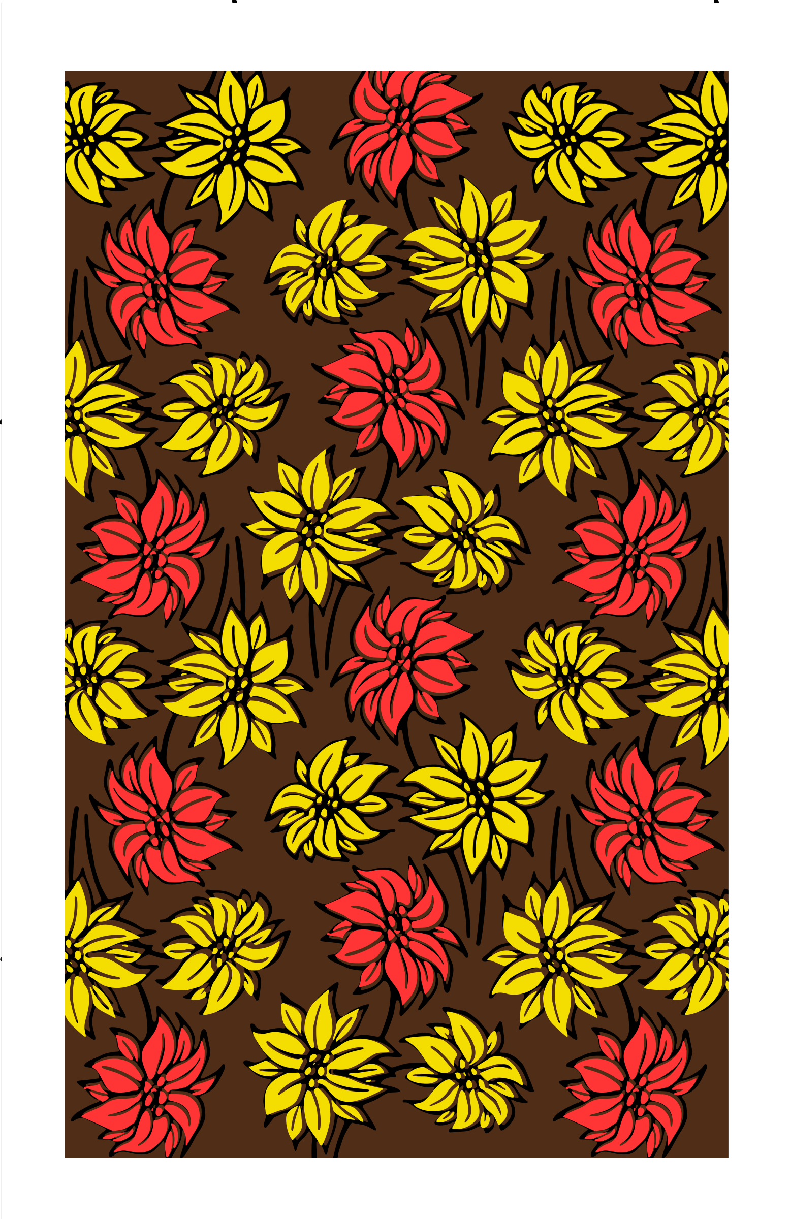 Flower pattern (alternative colour mix) by Firkin