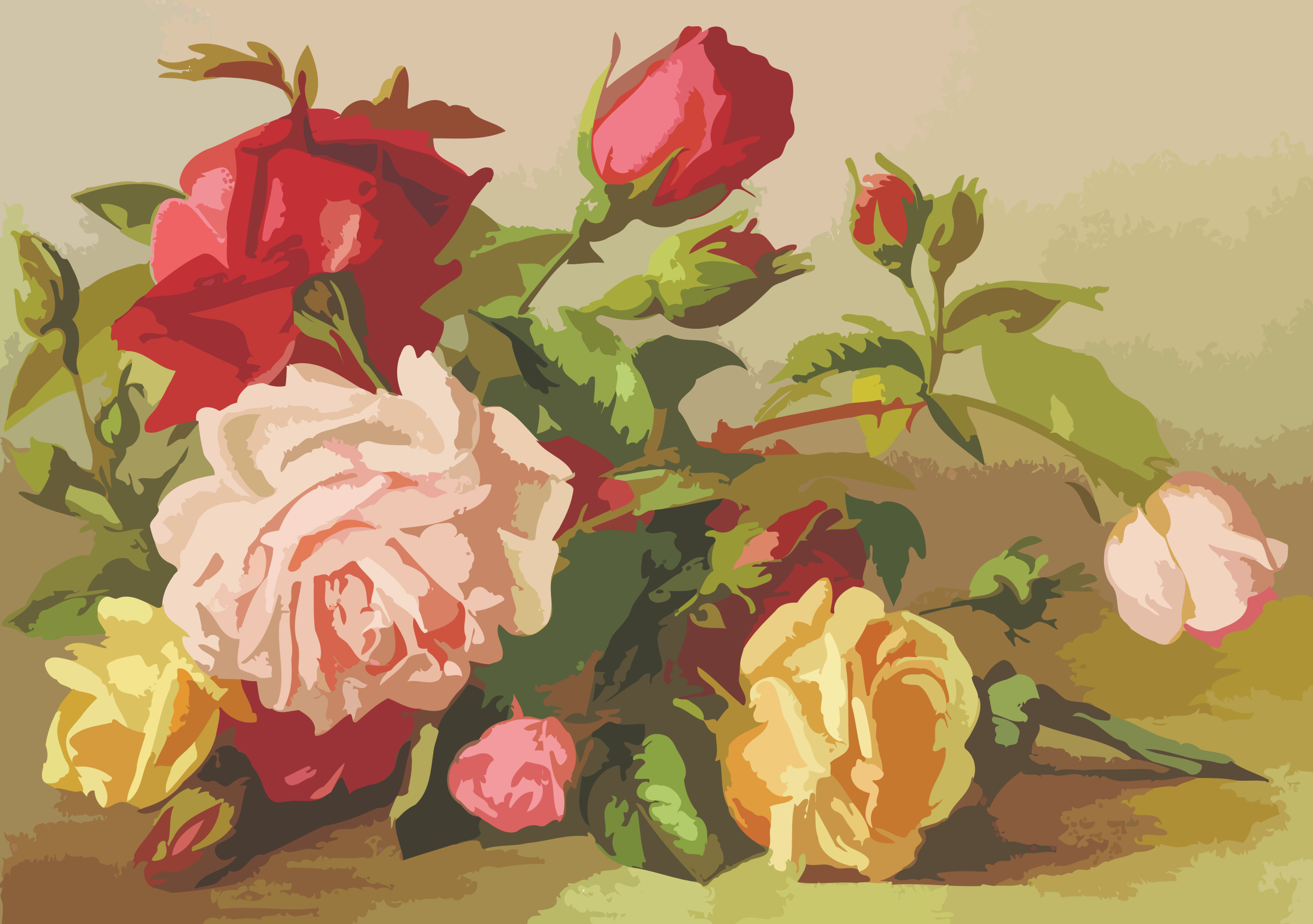 Roses (smaller file size) by Firkin