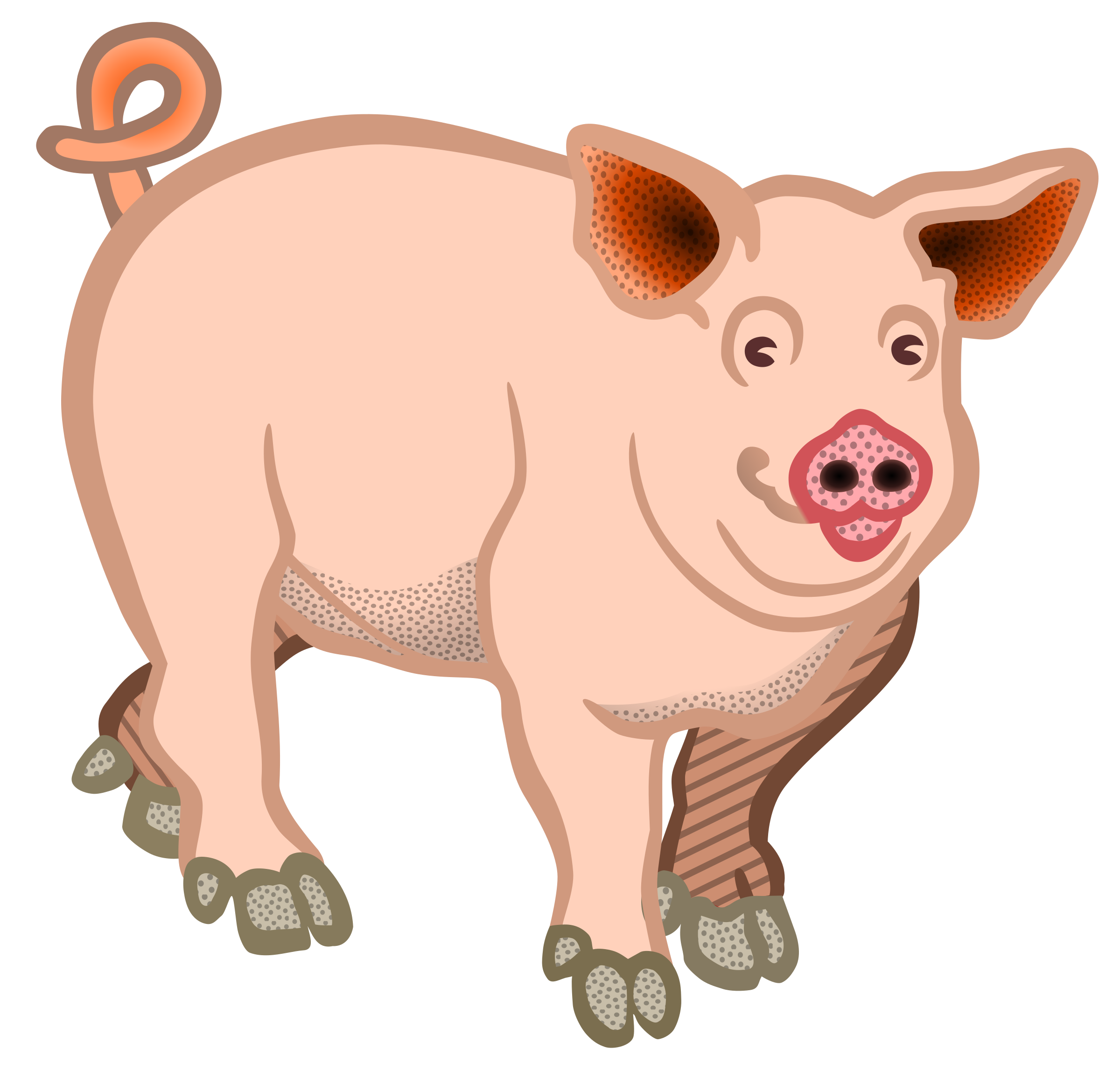 pig - coloured by frankes
