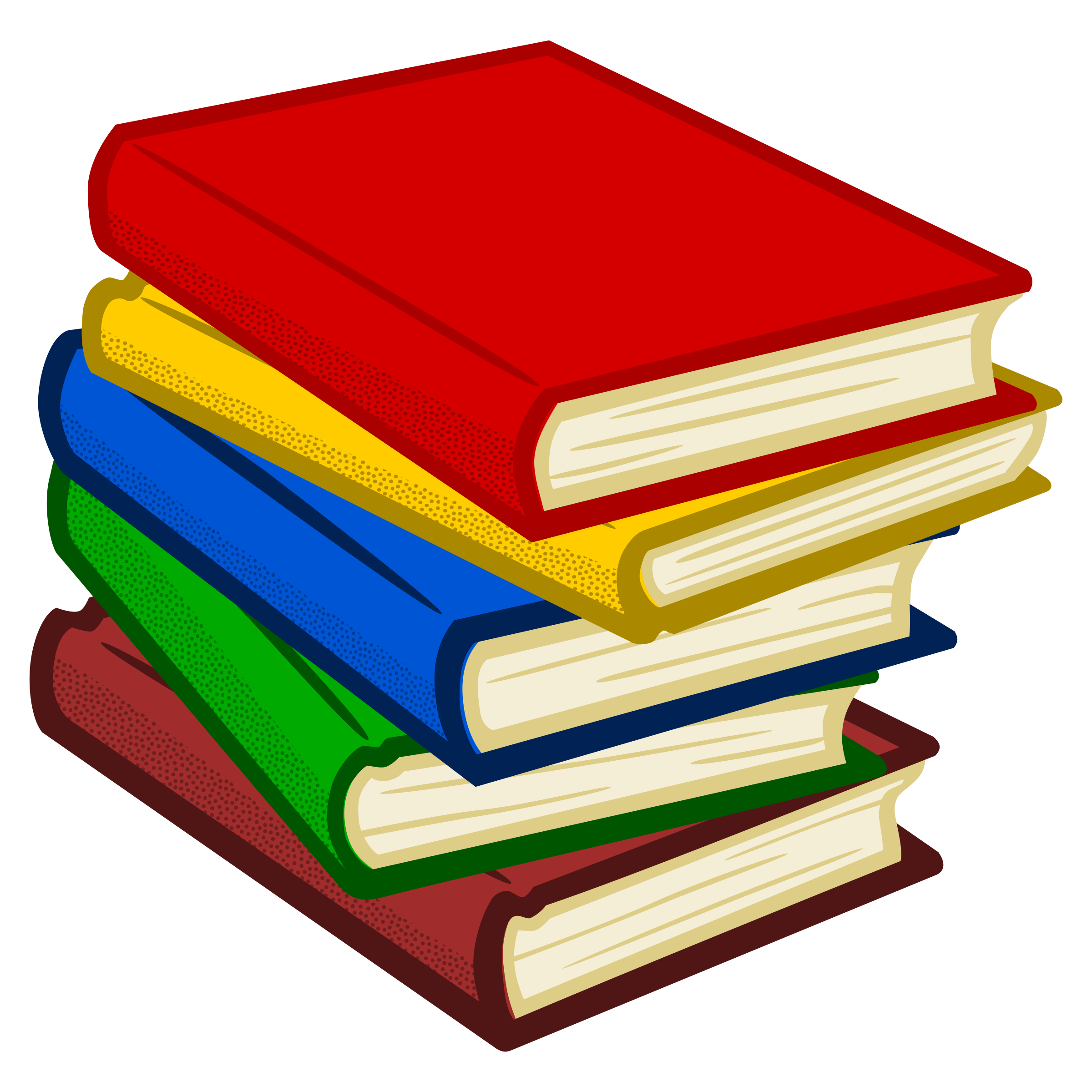 books - coloured by frankes