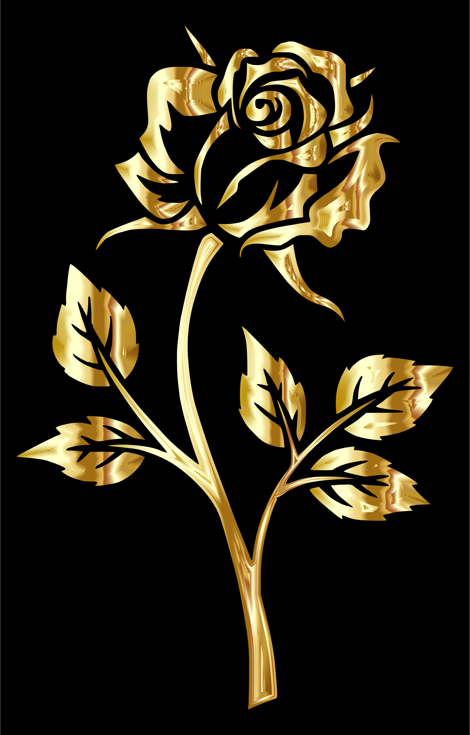 Clipart - Golden Rose