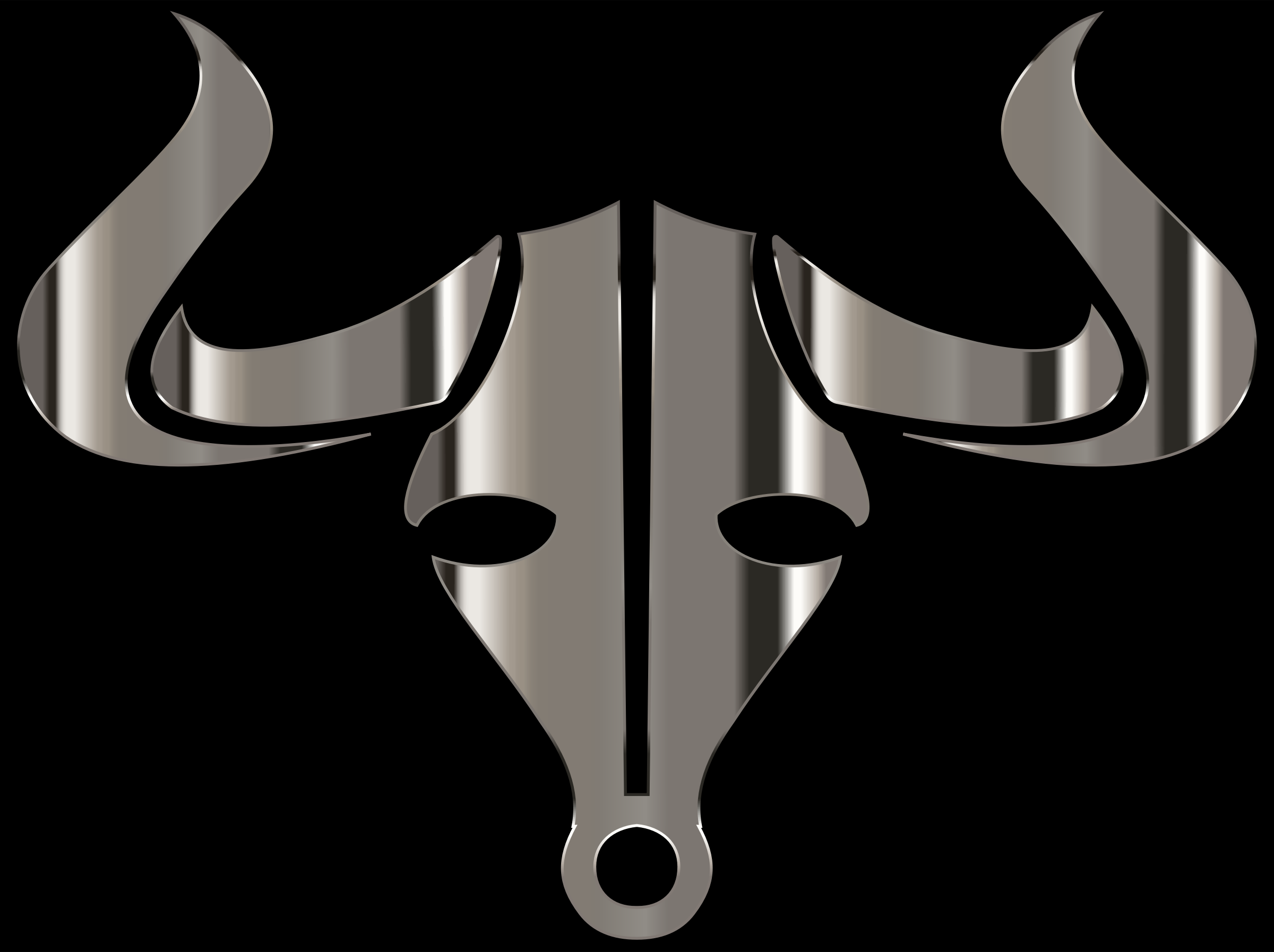 Polished Chrome Bull Icon by GDJ