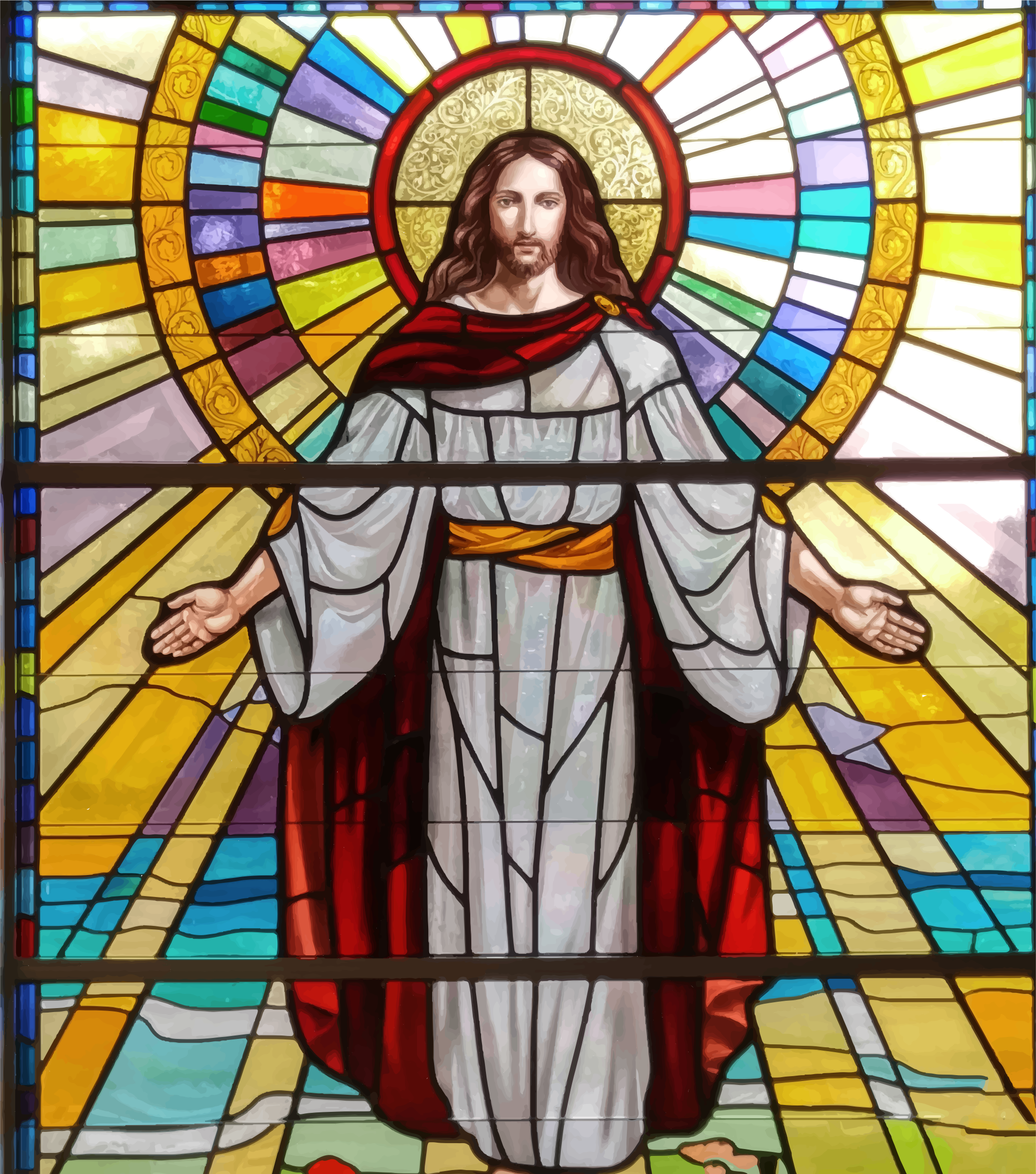 clipart jesus stained glass