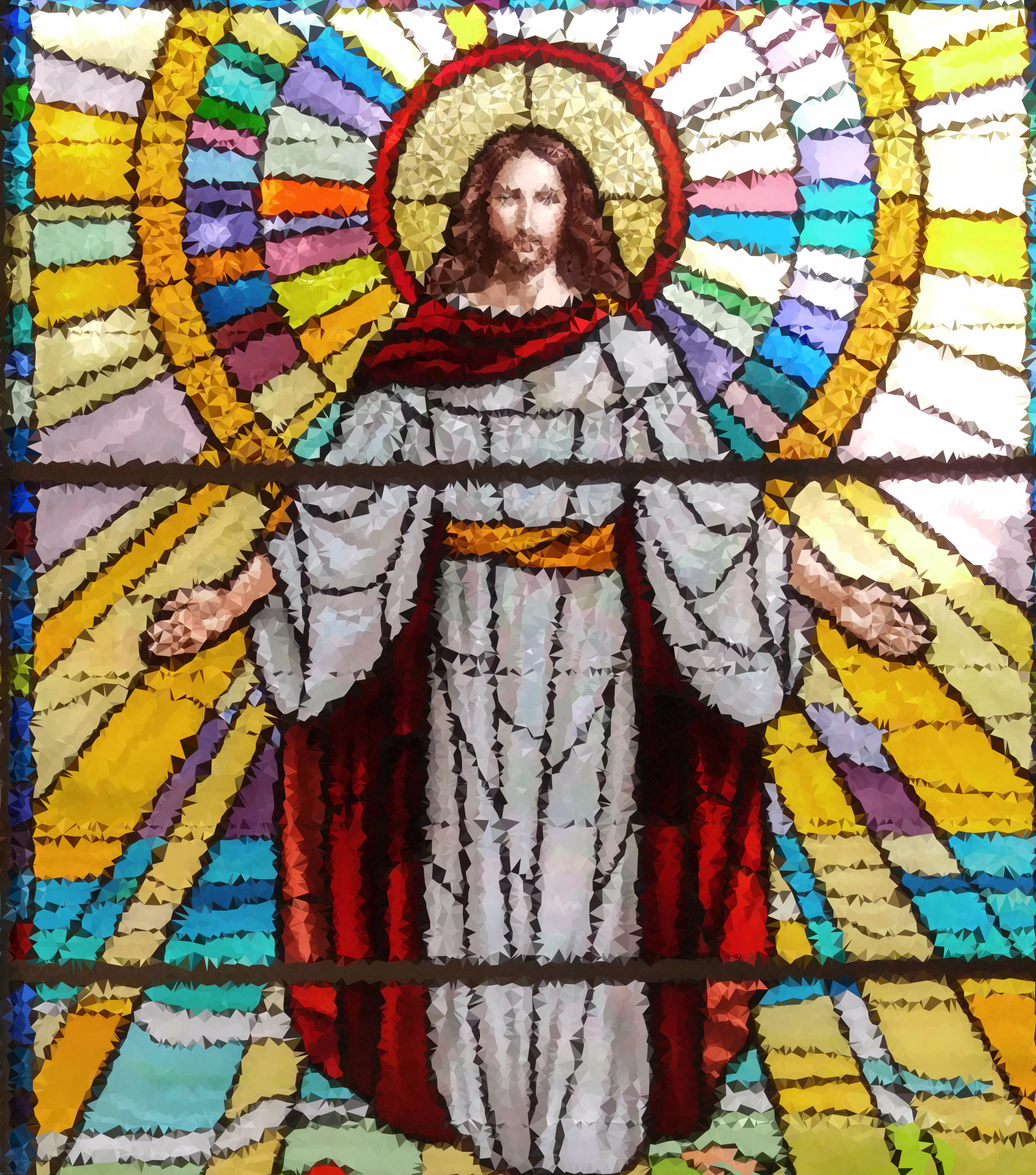 High Poly Jesus Stained Glass by GDJ