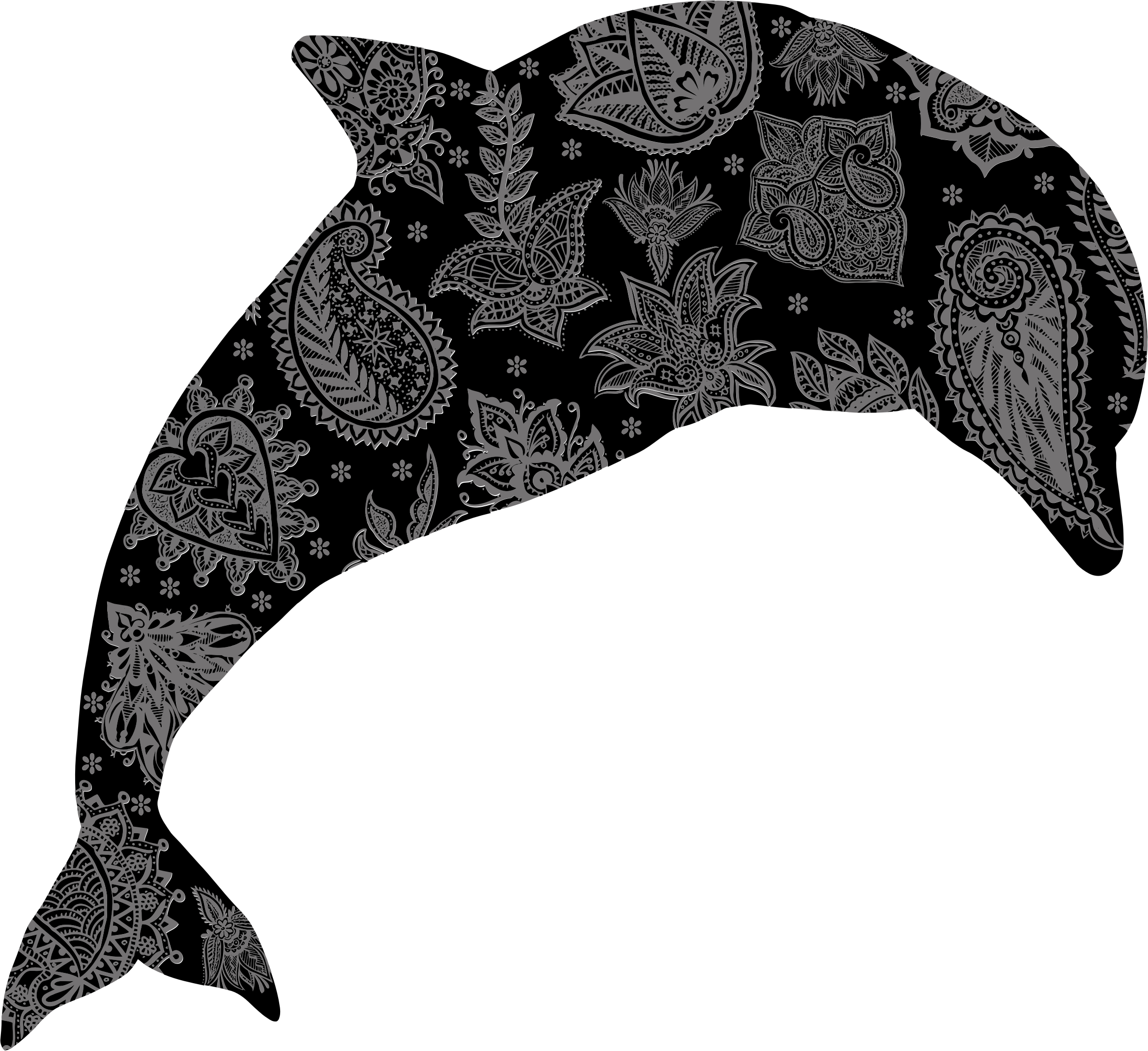 Floral Pattern Dolphin by GDJ