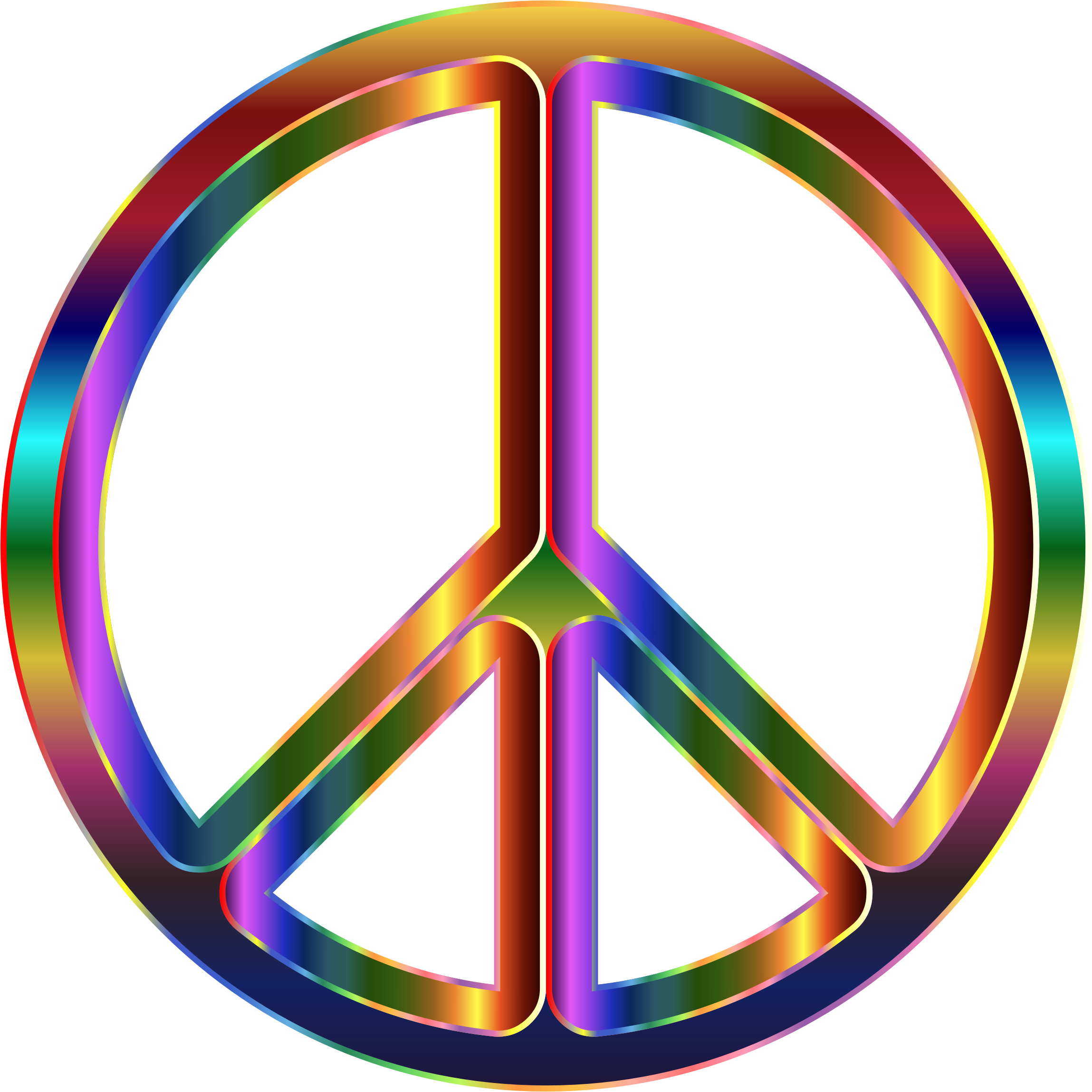Chromatic Peace Sign by GDJ