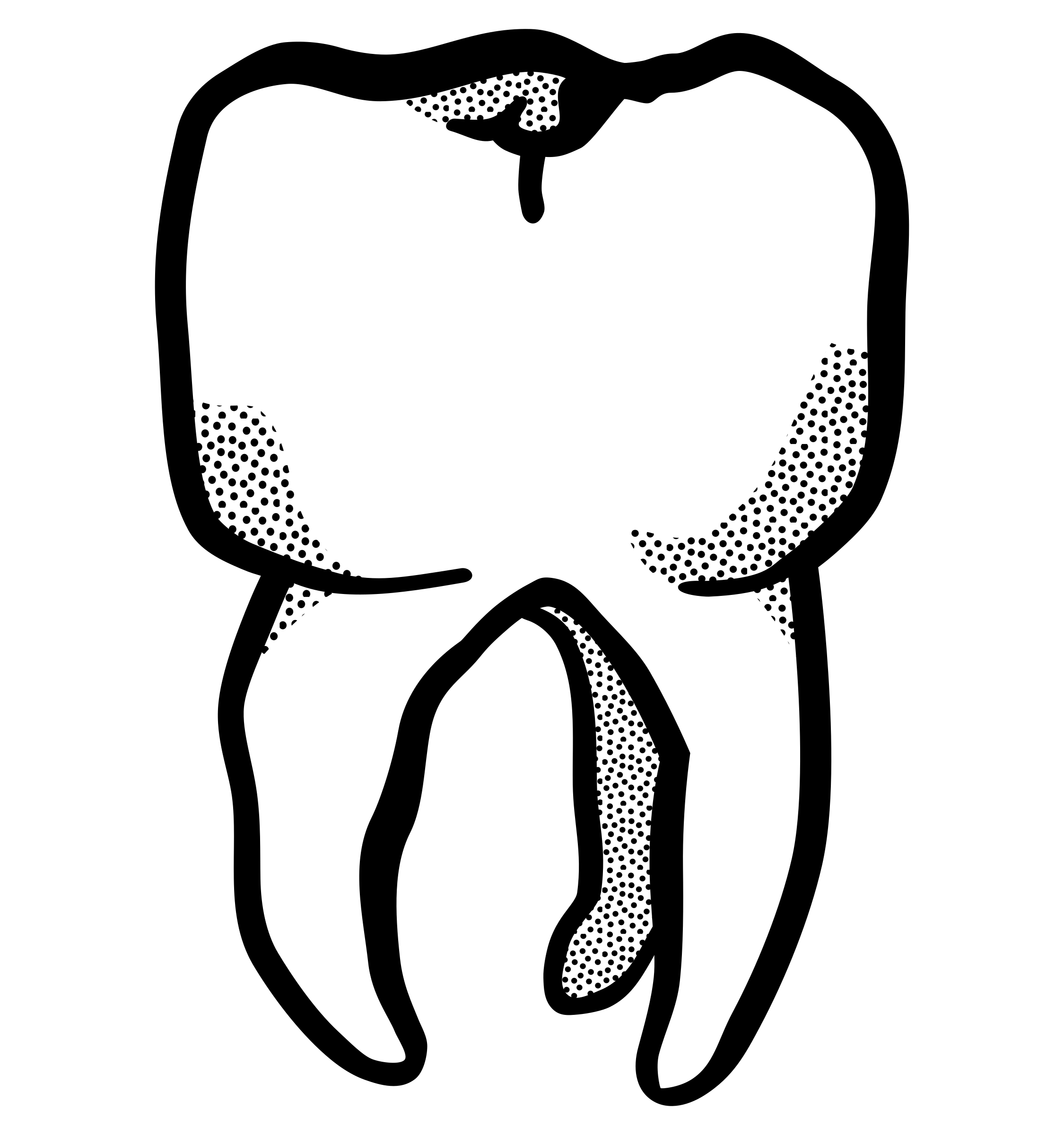 tooth - lineart by frankes
