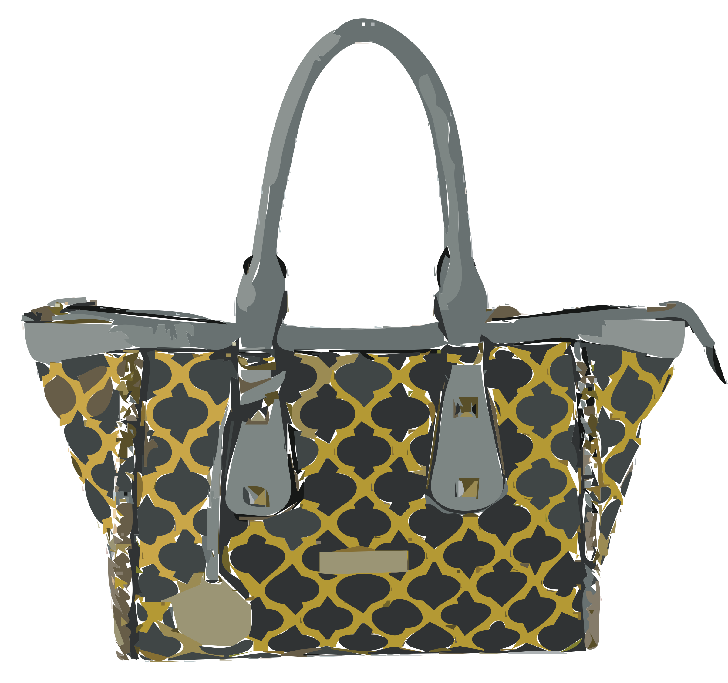 Leather Patterned Bag No Logo by rejon
