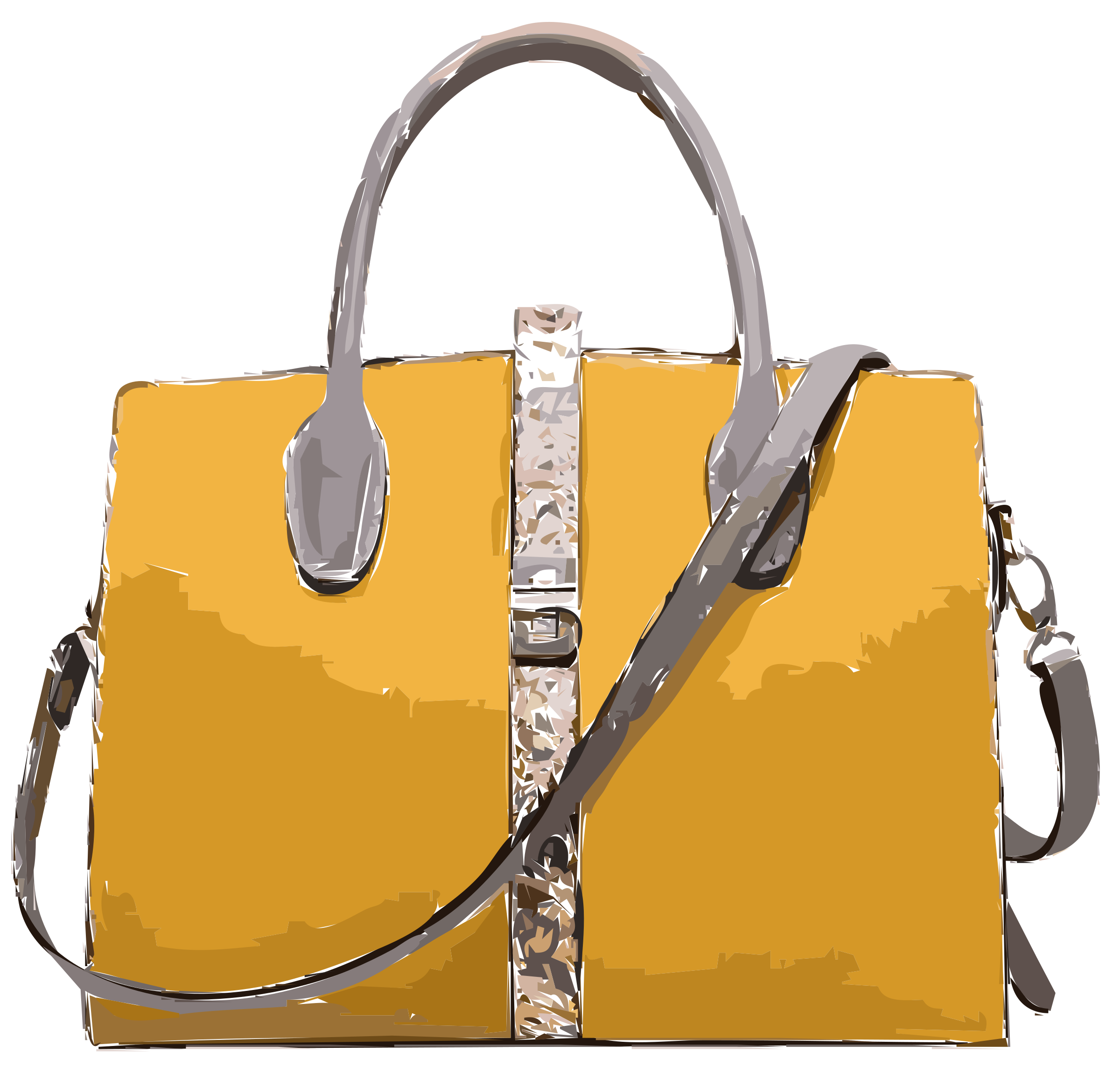 Yellow Leather Handbag No Logo by rejon