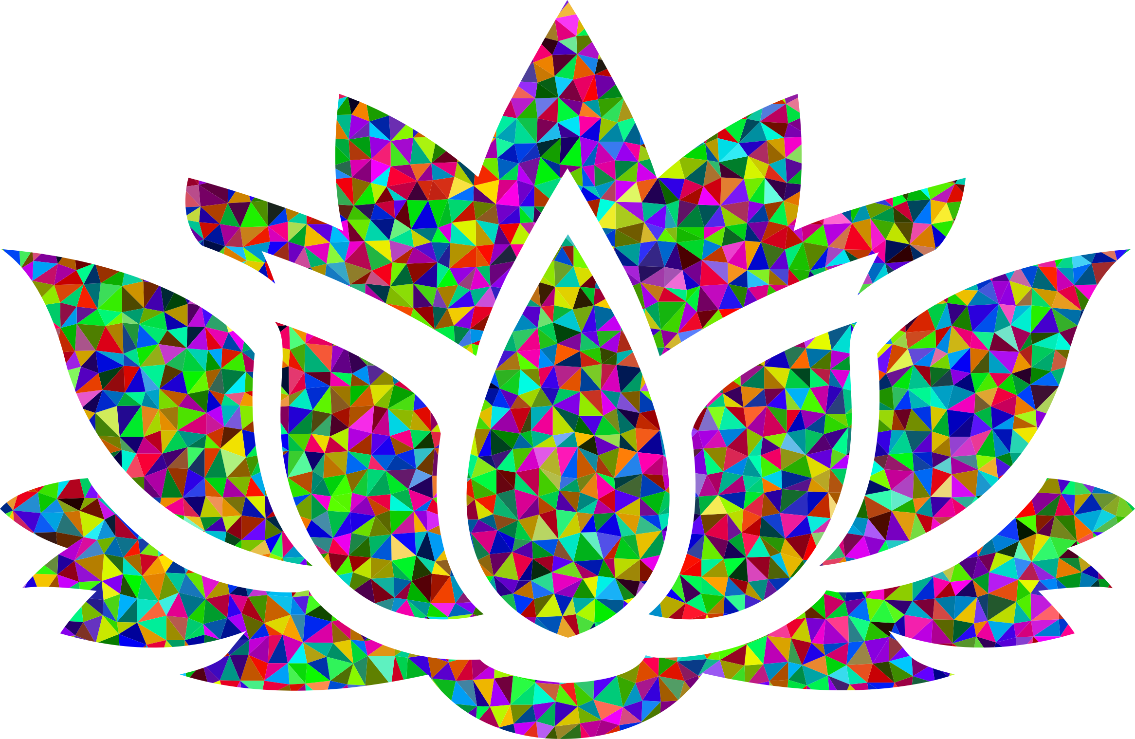 Low Poly Prismatic Lotus Flower Silhouette by GDJ