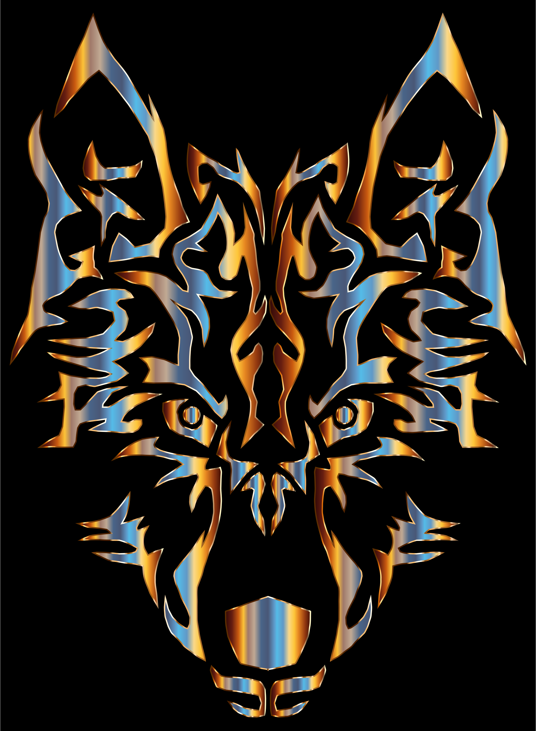 Chromatic Symmetric Tribal Wolf 2 by GDJ