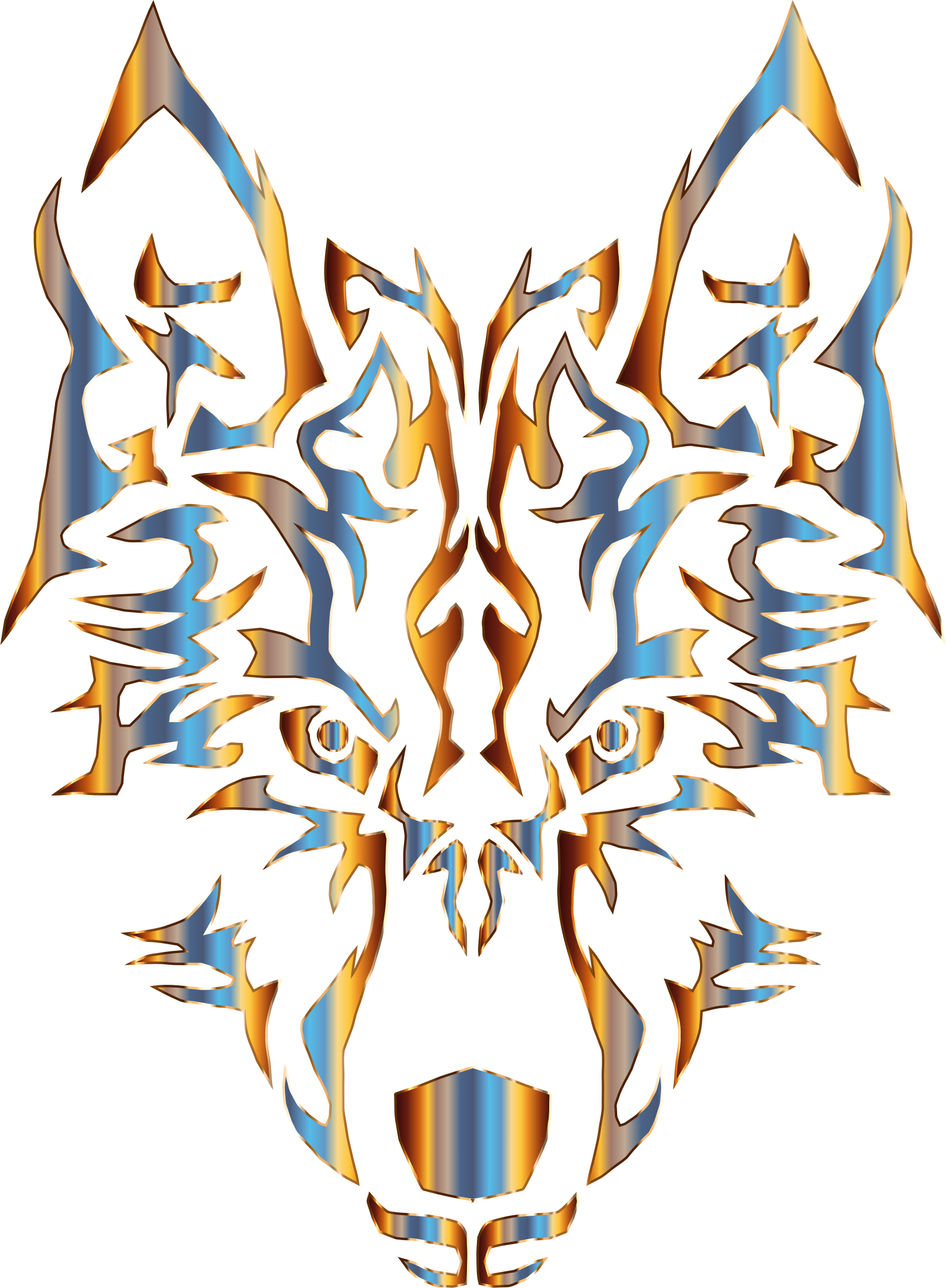 Chromatic Symmetric Tribal Wolf 2 No Background by GDJ