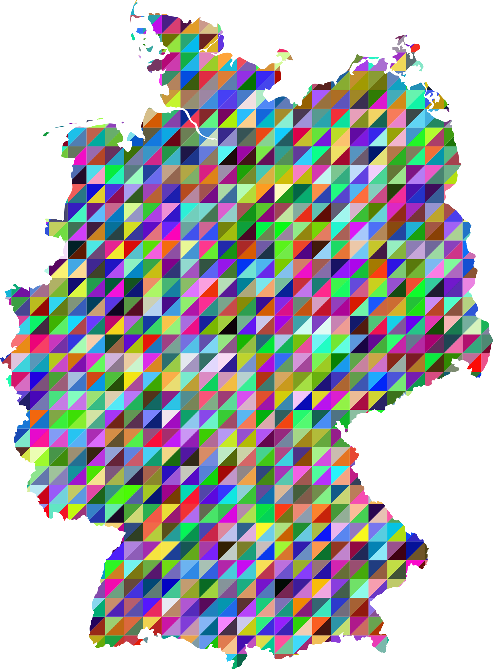 Prismatic Triangles Germany Map by GDJ