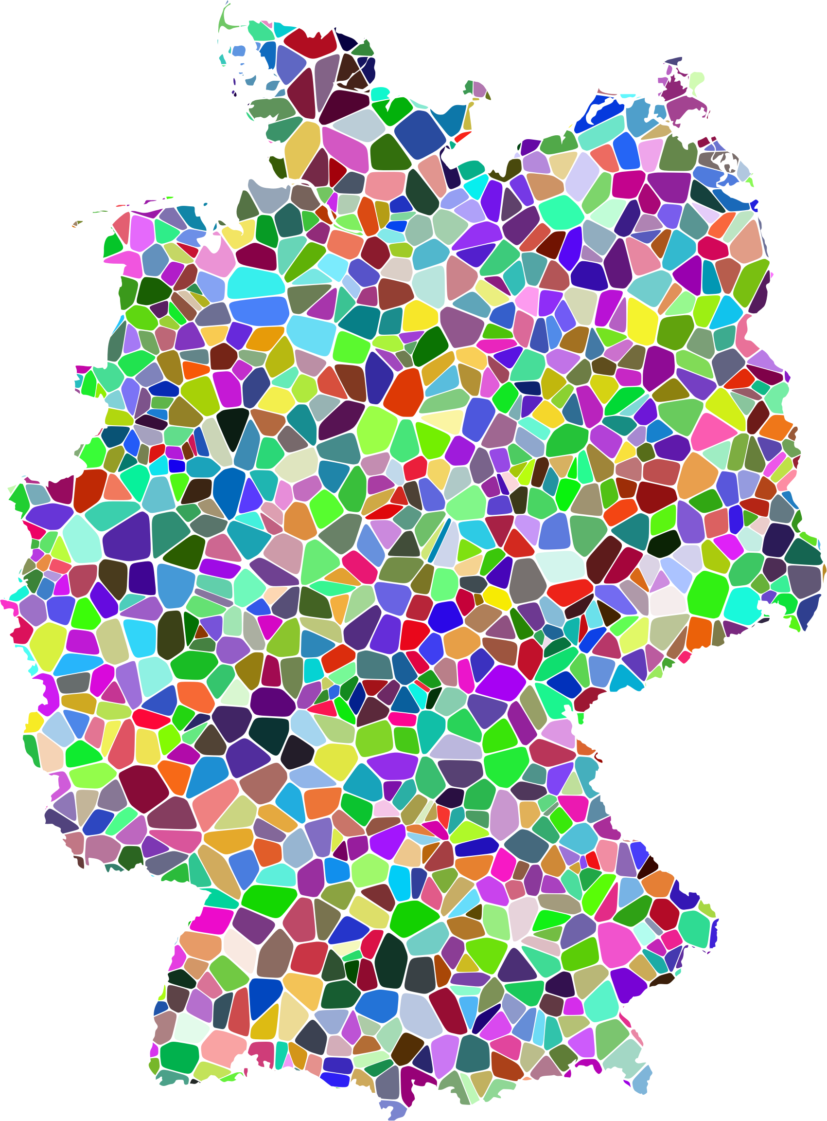 Prismatic Tiled Germany Map by GDJ