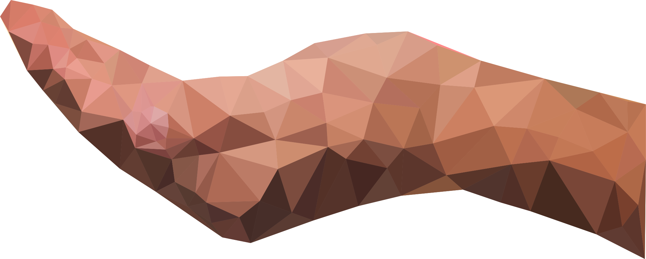 Low Poly Cupping Hand Horizontal by GDJ