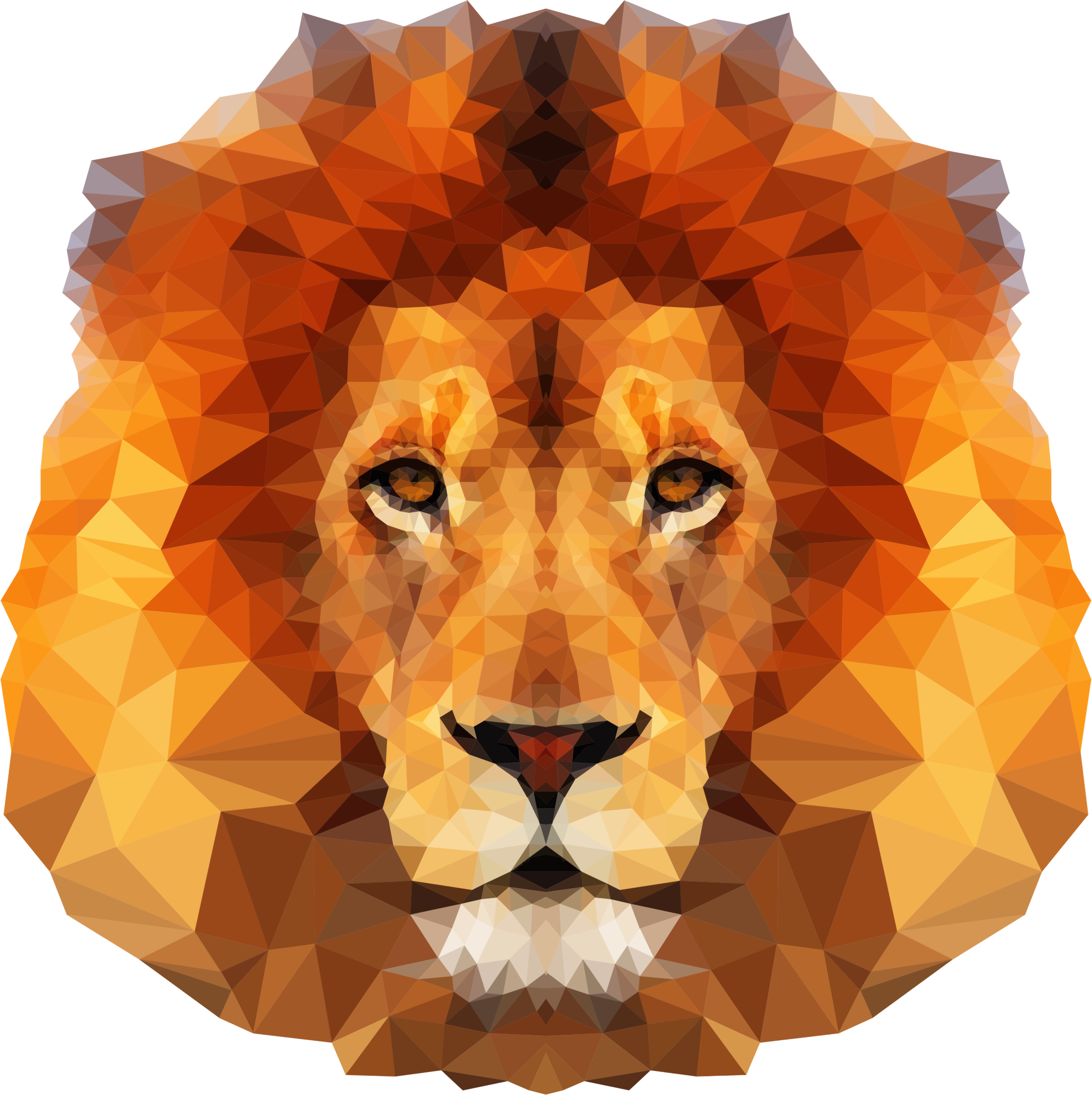 Low Poly Lion Face by GDJ