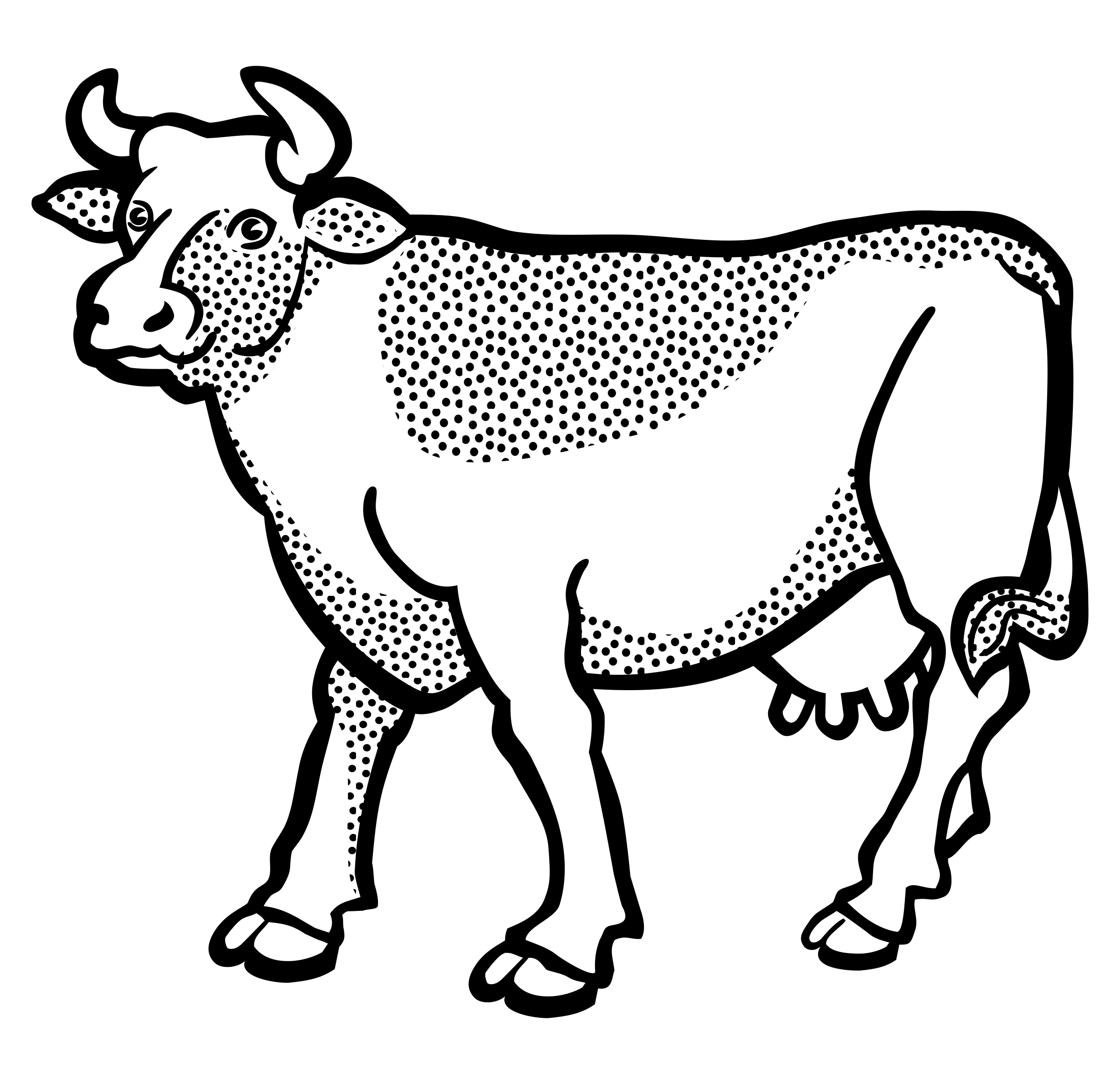 Line Drawing Cow : Clipart cow lineart