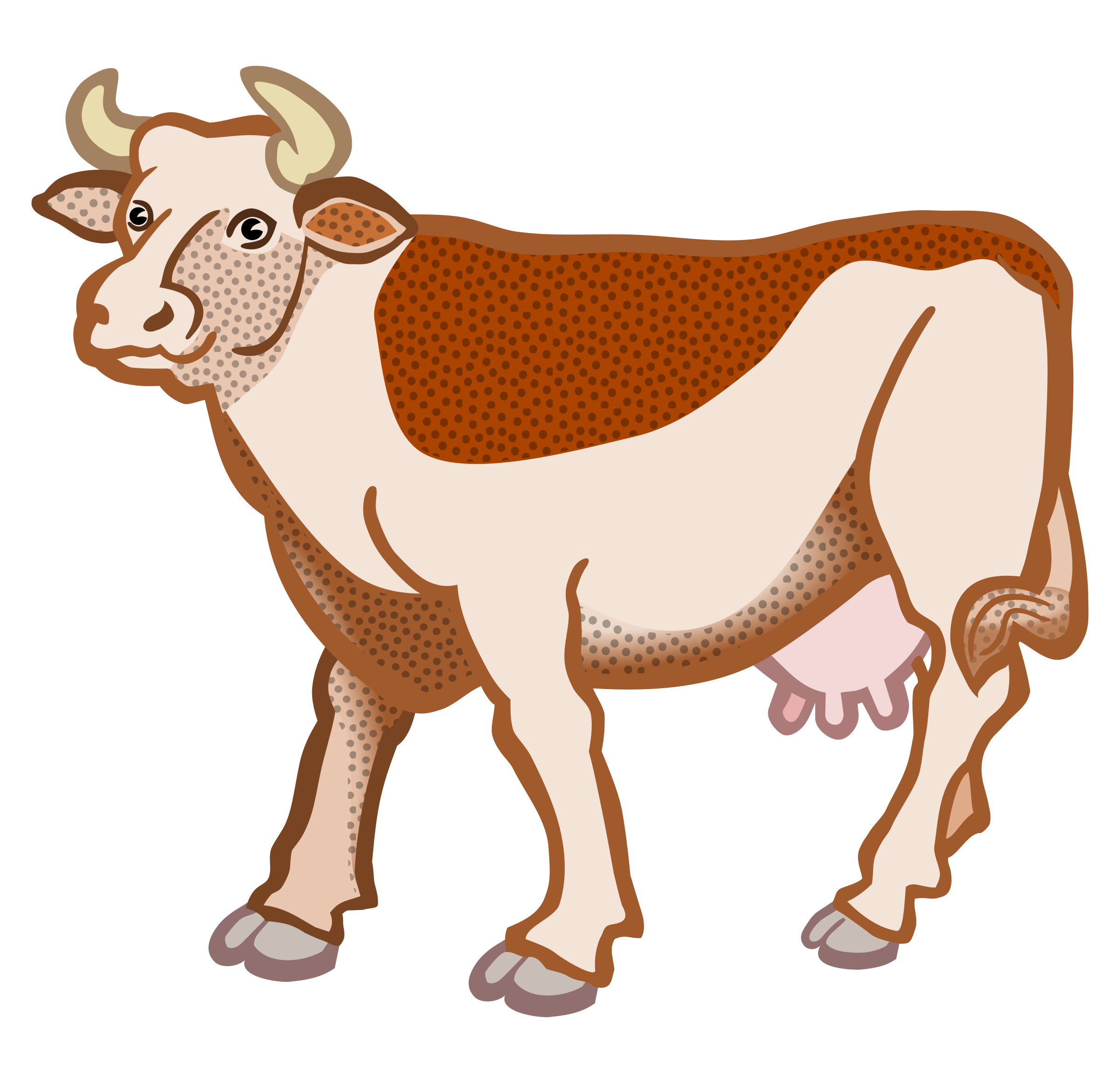 cow - coloured by frankes