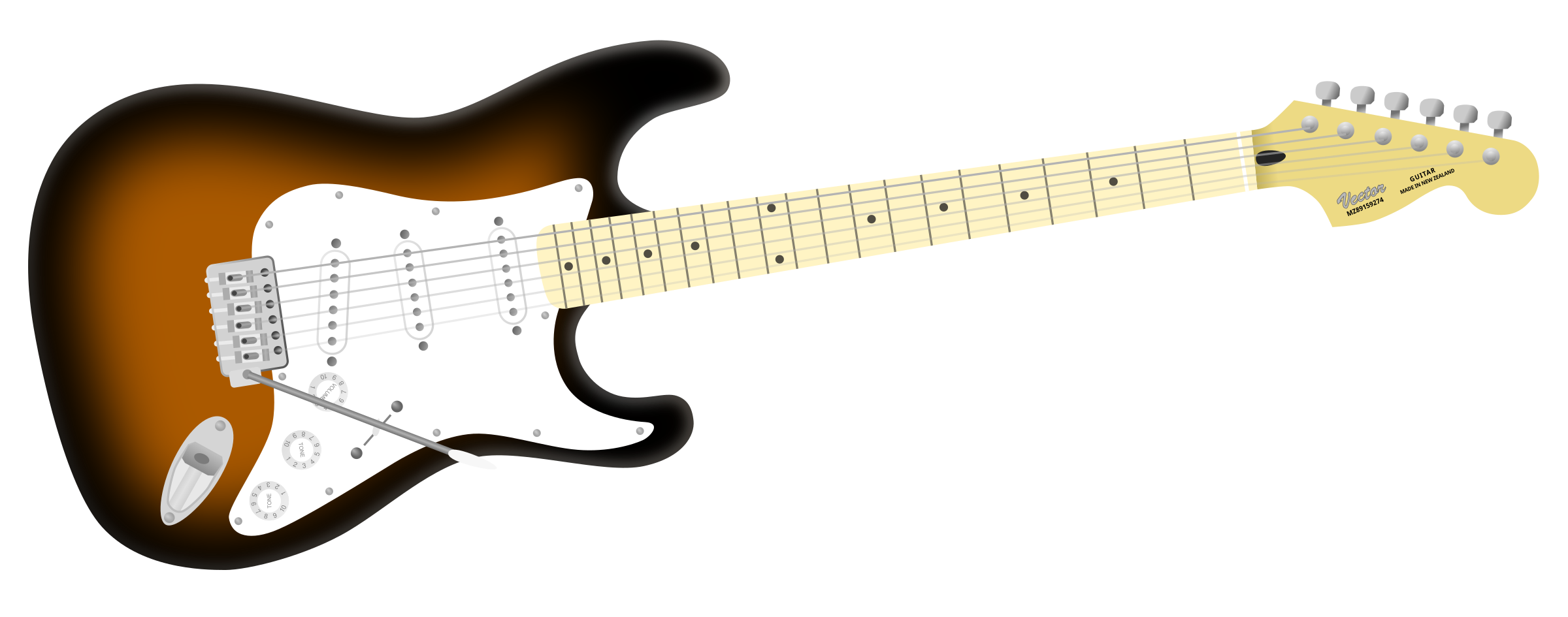 Electric guitar by Tomas Sobek