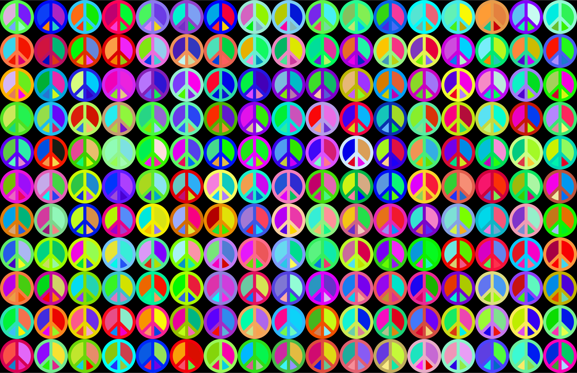 Prismatic Peace Sign Background 3 by GDJ