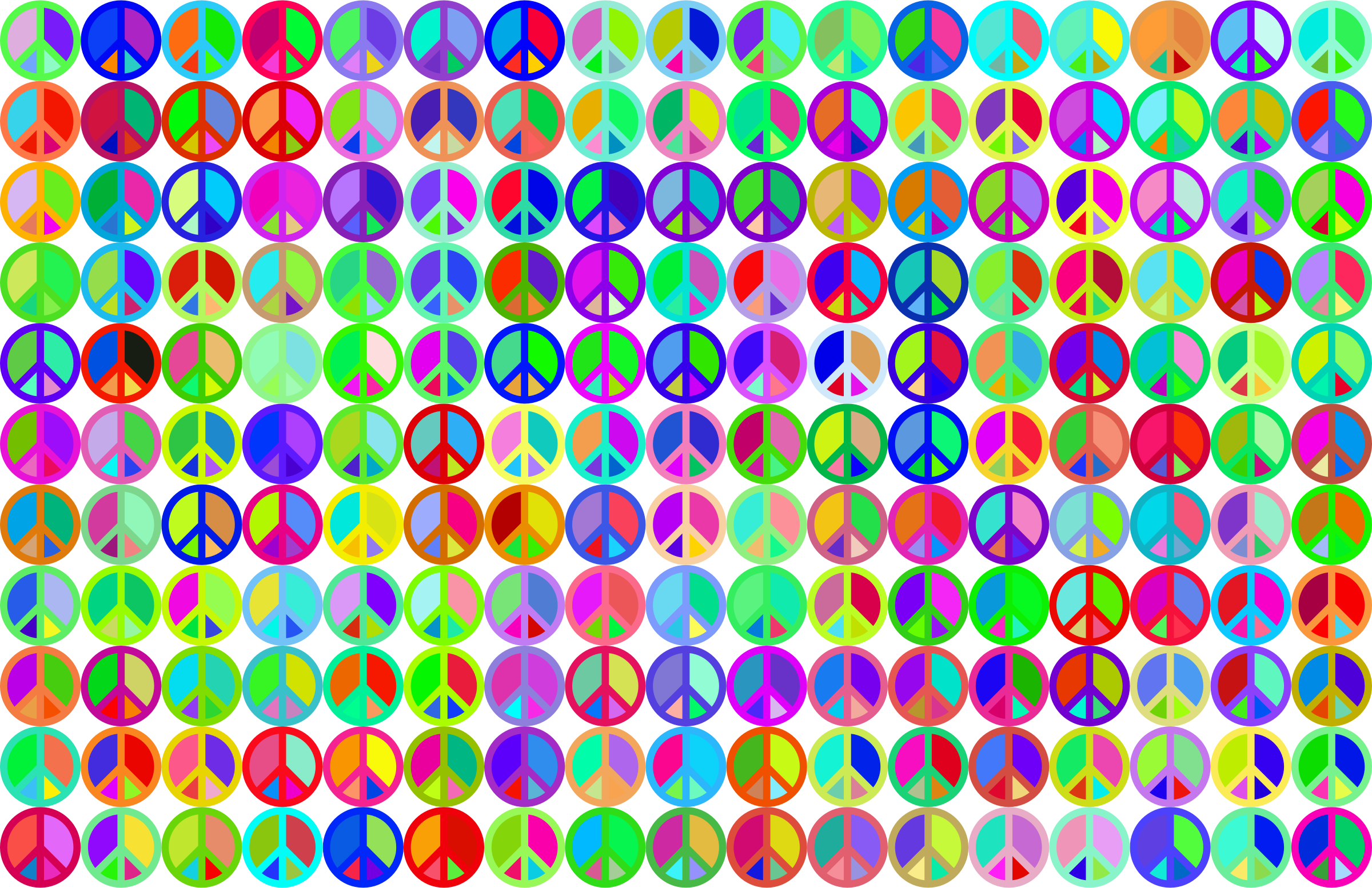 Prismatic Peace Sign Background 3 No Background by GDJ