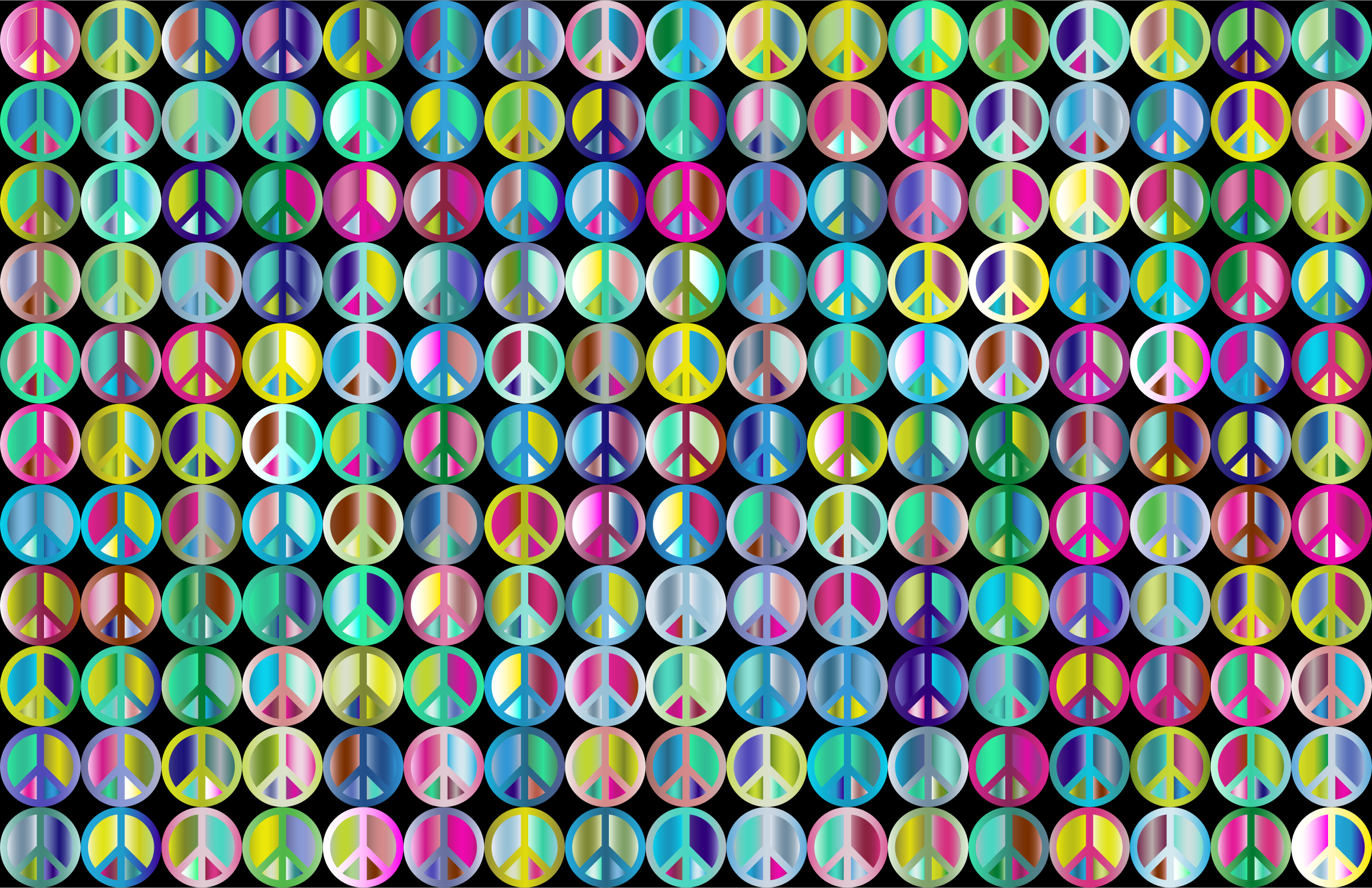 Prismatic Peace Sign Background 4 by GDJ