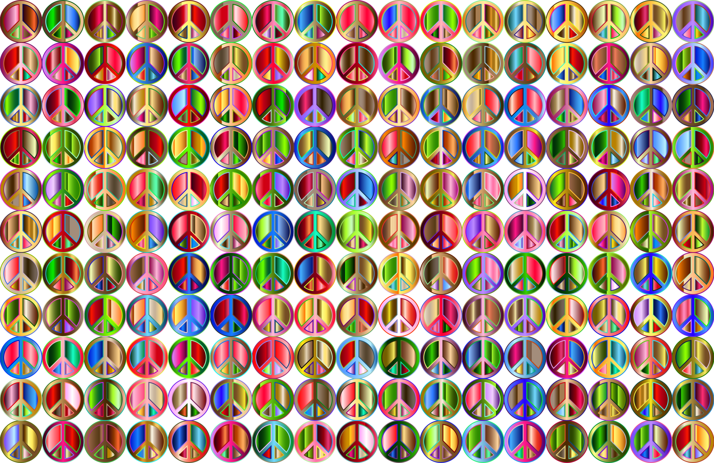 Prismatic Peace Sign Background 5 Variation 2 No Background by GDJ