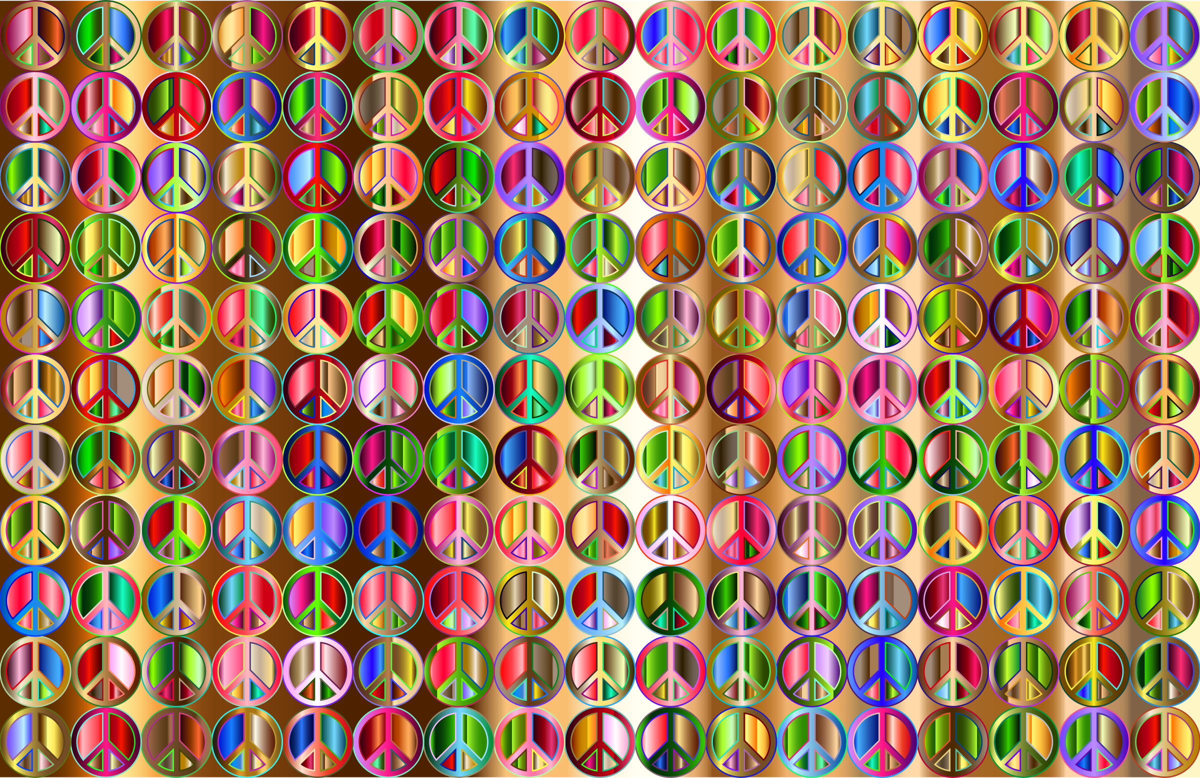 Prismatic Peace Sign Background 5 Variation 3 by GDJ