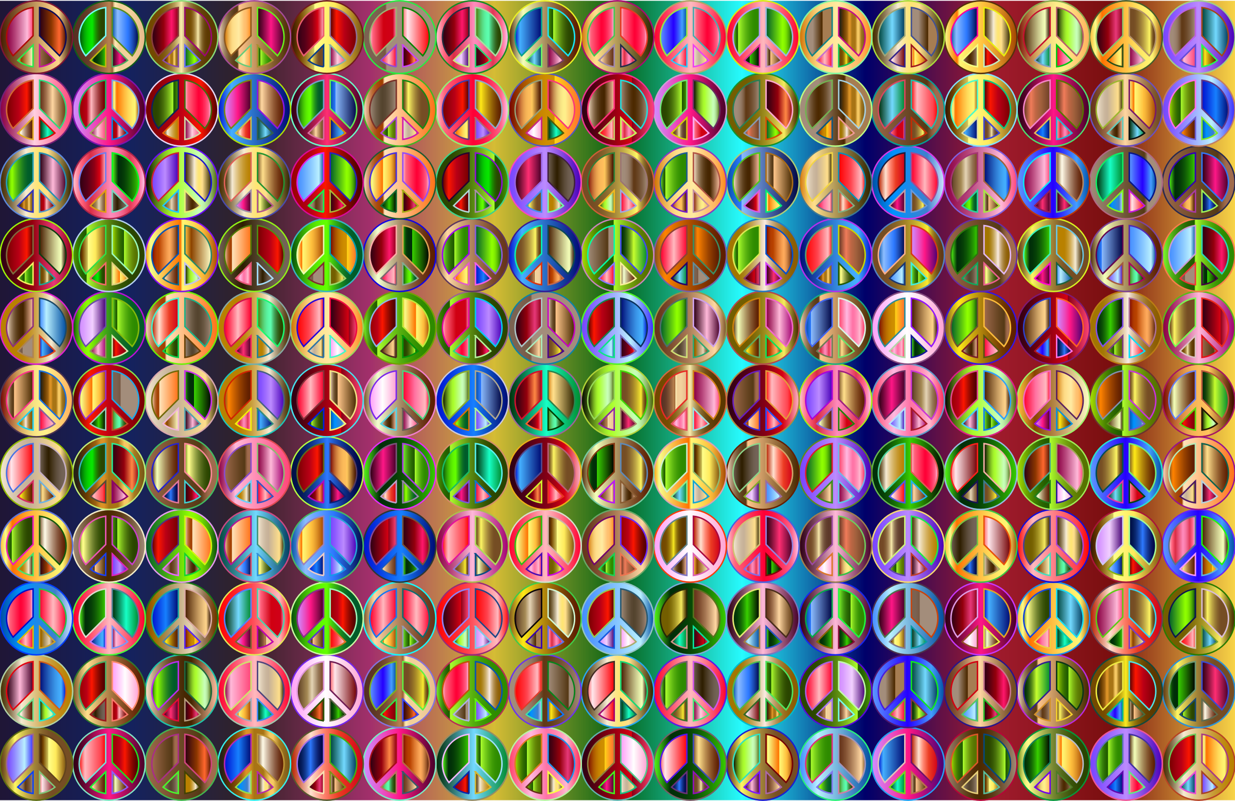 Prismatic Peace Sign Background 5 Variation 4 by GDJ