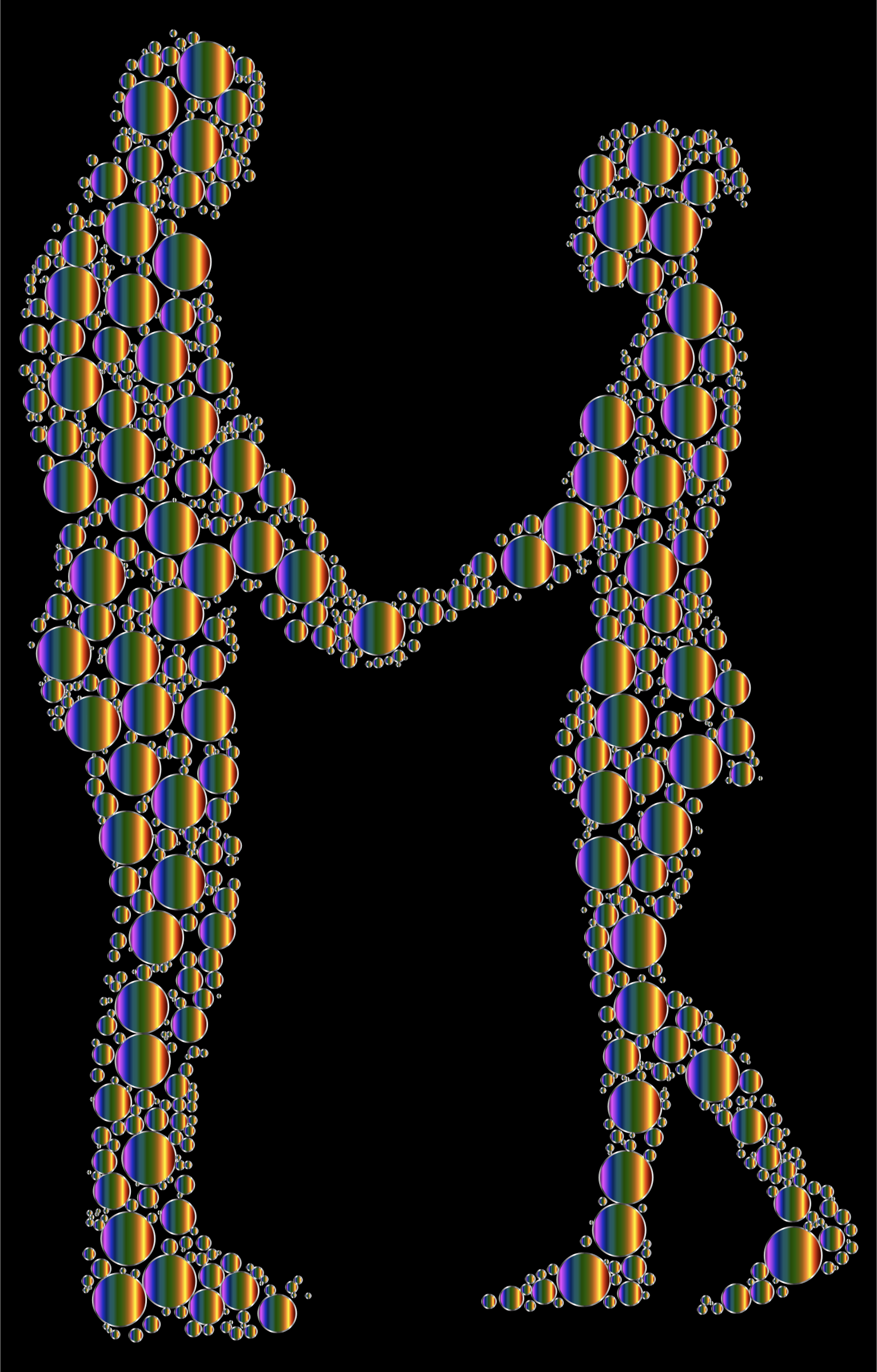 Prismatic Circles Couple Silhouette 6 8 by GDJ