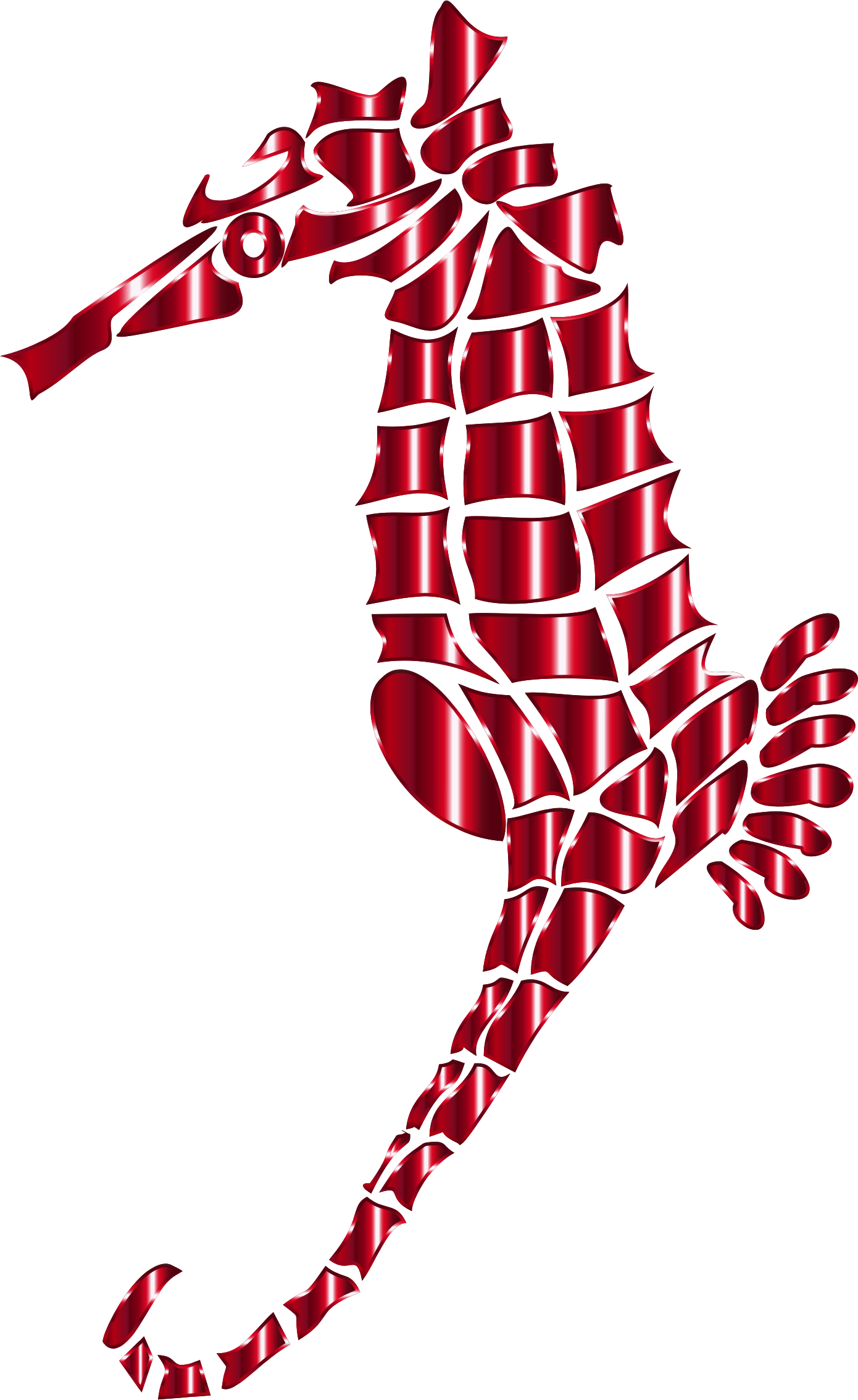 Vermillion Stylized Seahorse Silhouette No Background by GDJ