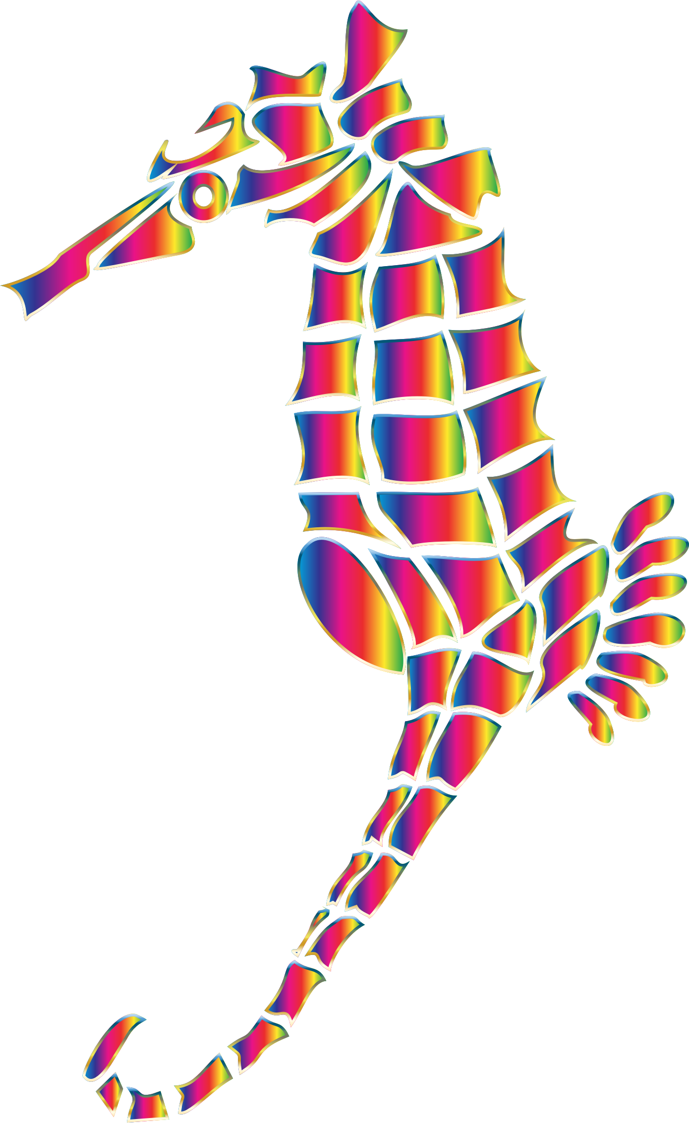 Spectral Stylized Seahorse Silhouette No Background by GDJ