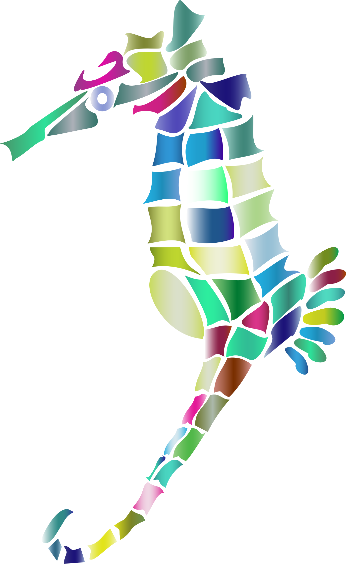 Prismatic Stylized Seahorse Silhouette 3 by GDJ