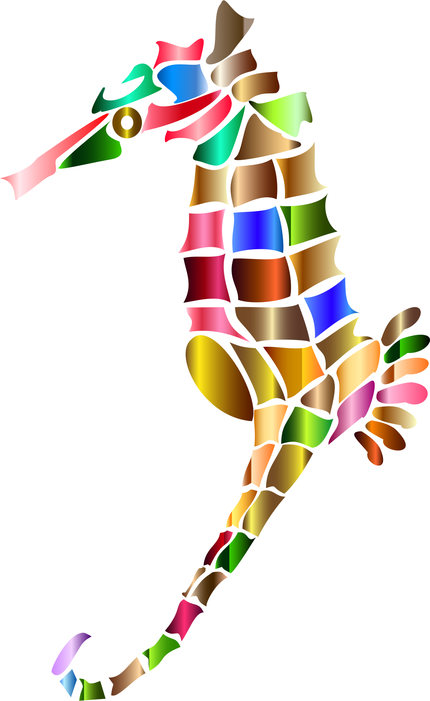 Prismatic Stylized Seahorse Silhouette 5 by GDJ